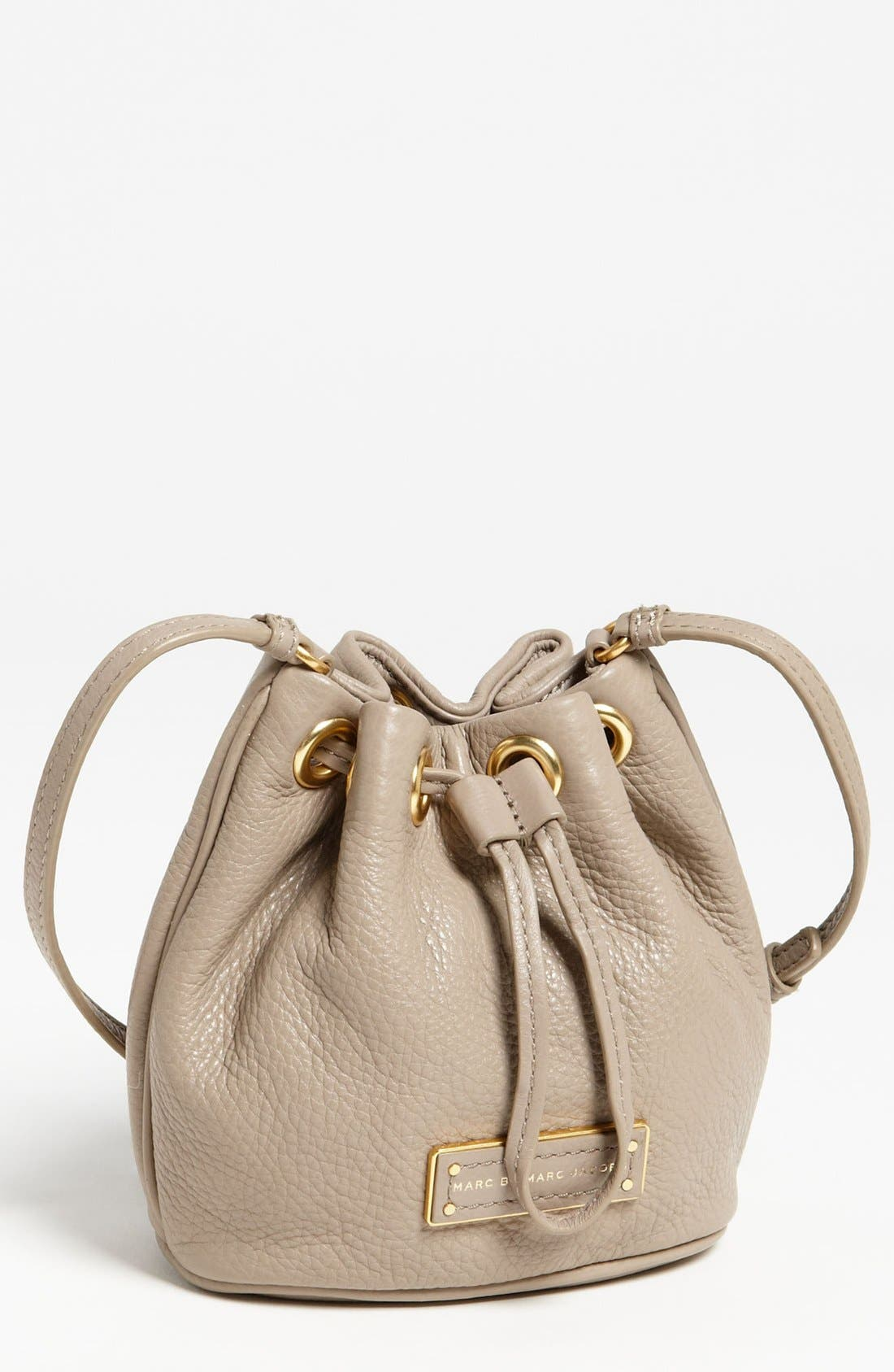 Alternate Image 1 Selected - MARC BY MARC JACOBS 'Too Hot to Handle - Mini' Leather Drawstring Crossbody Bag