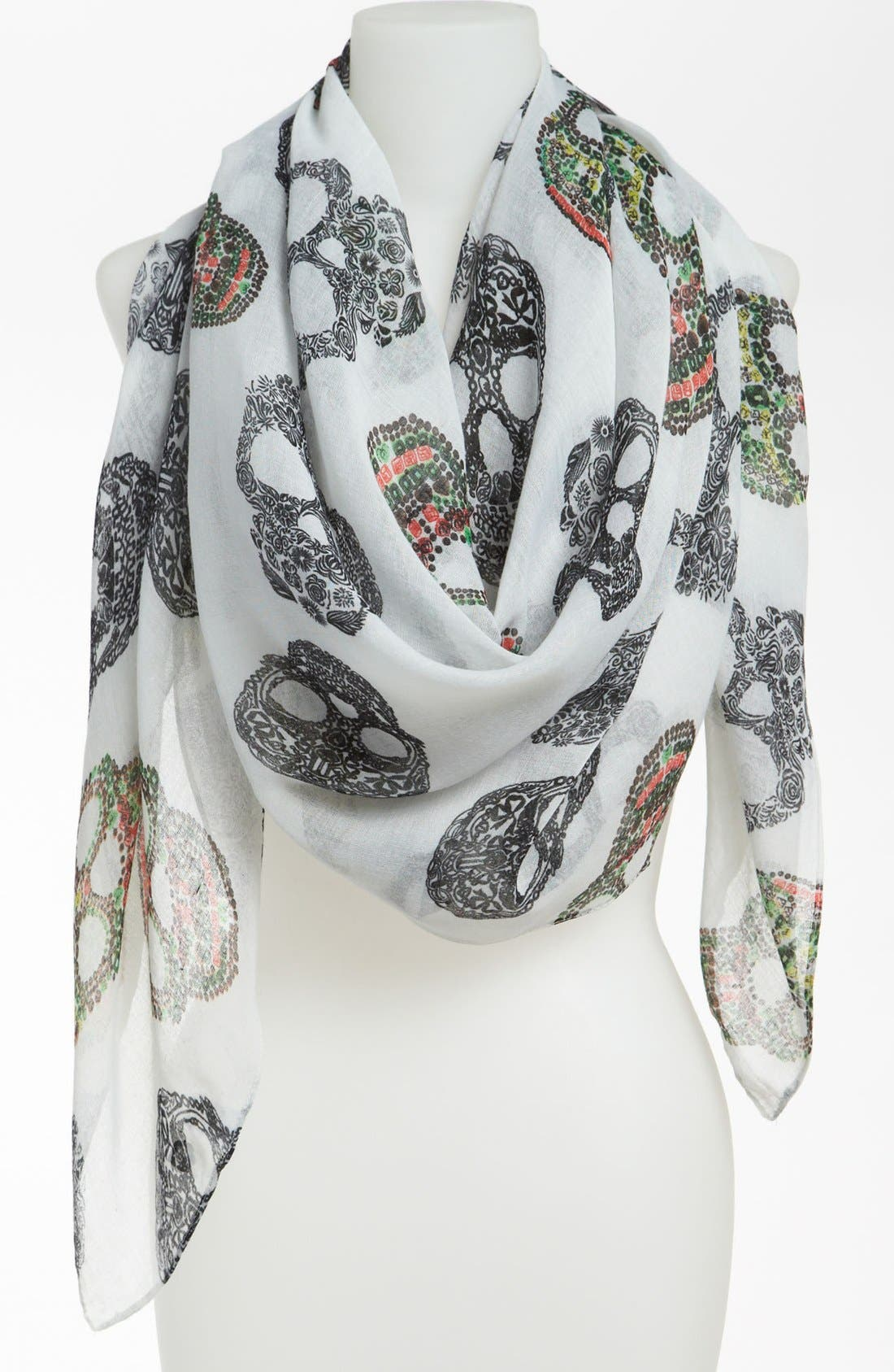 Alternate Image 1 Selected - BP. Sugar Skull Print Scarf