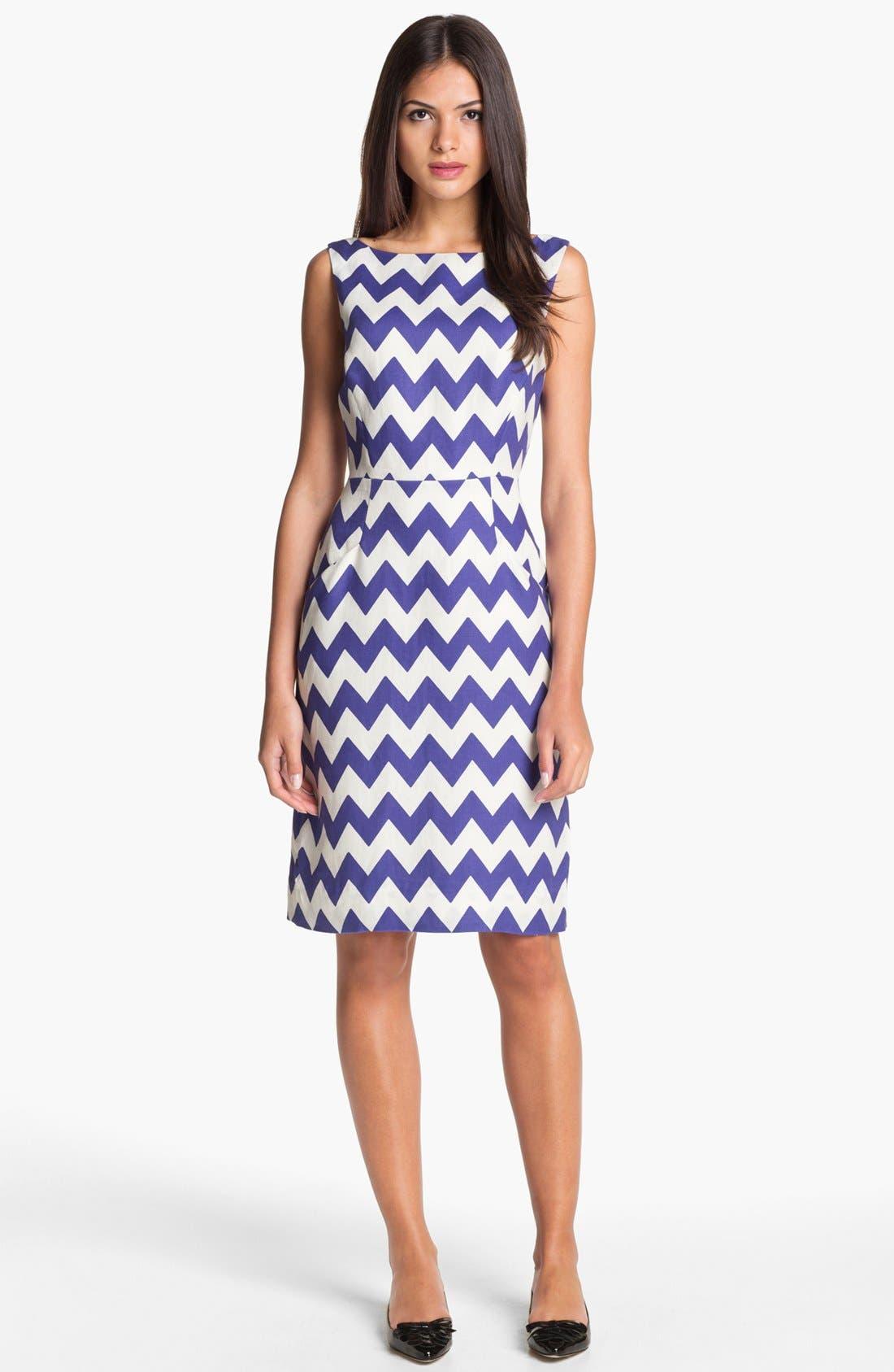 Alternate Image 1 Selected - kate spade new york 'brent' linen sheath dress