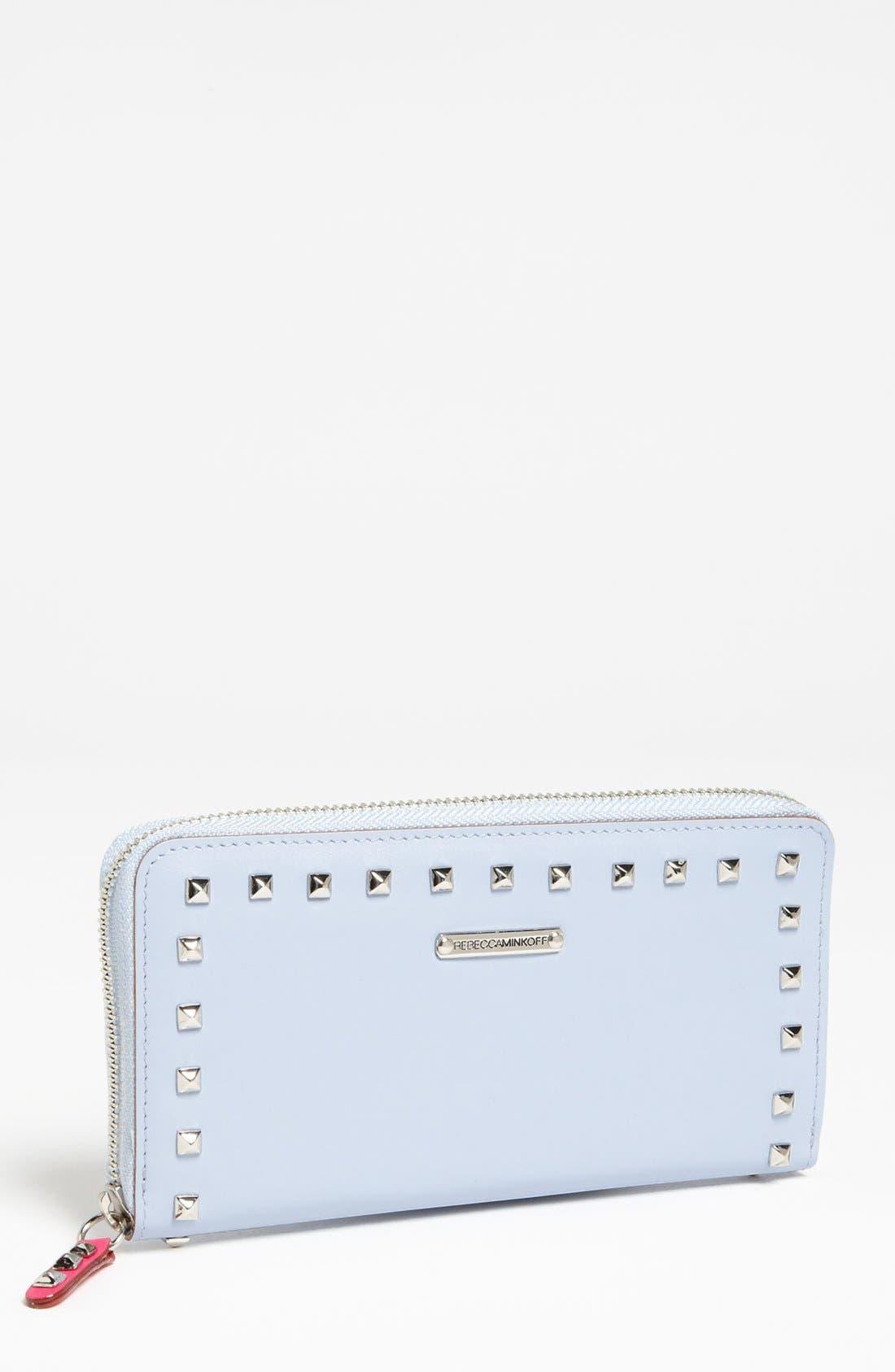 Main Image - Rebecca Minkoff 'Luma - Large' Studded Zip Wallet
