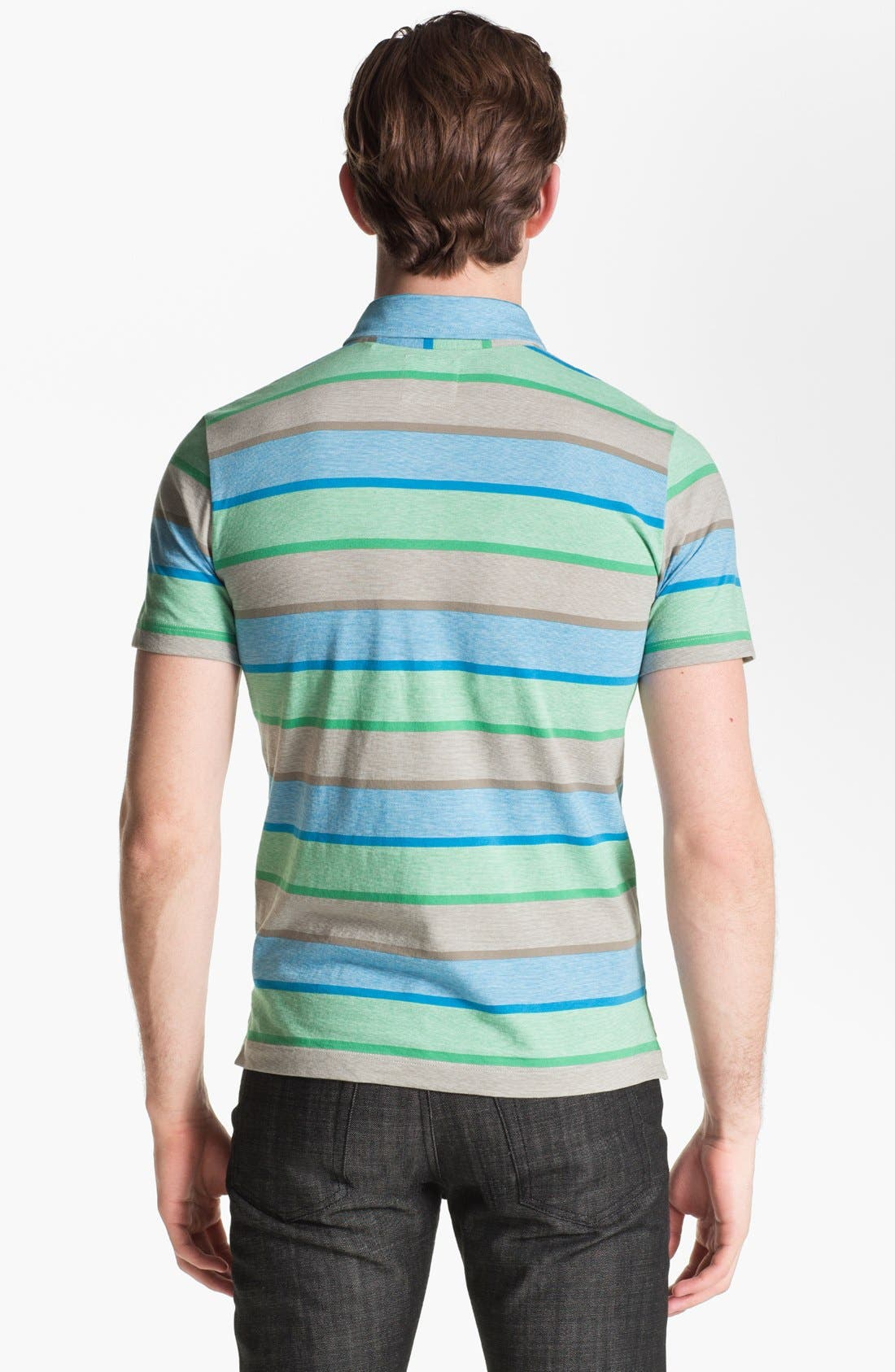 Alternate Image 2  - Billy Reid 'Pensacola' Trim Fit Stripe Polo