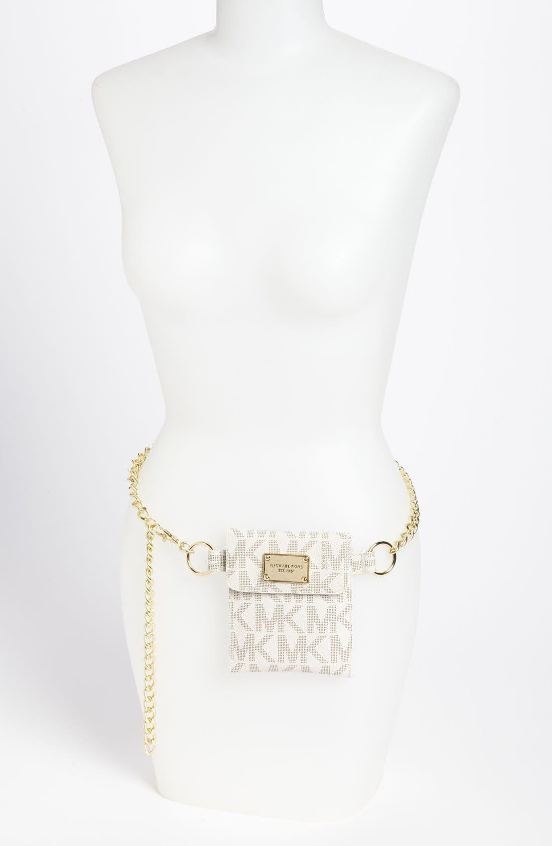 Alternate Image 2  - MICHAEL Michael Kors Faux Leather Chain Belt Bag