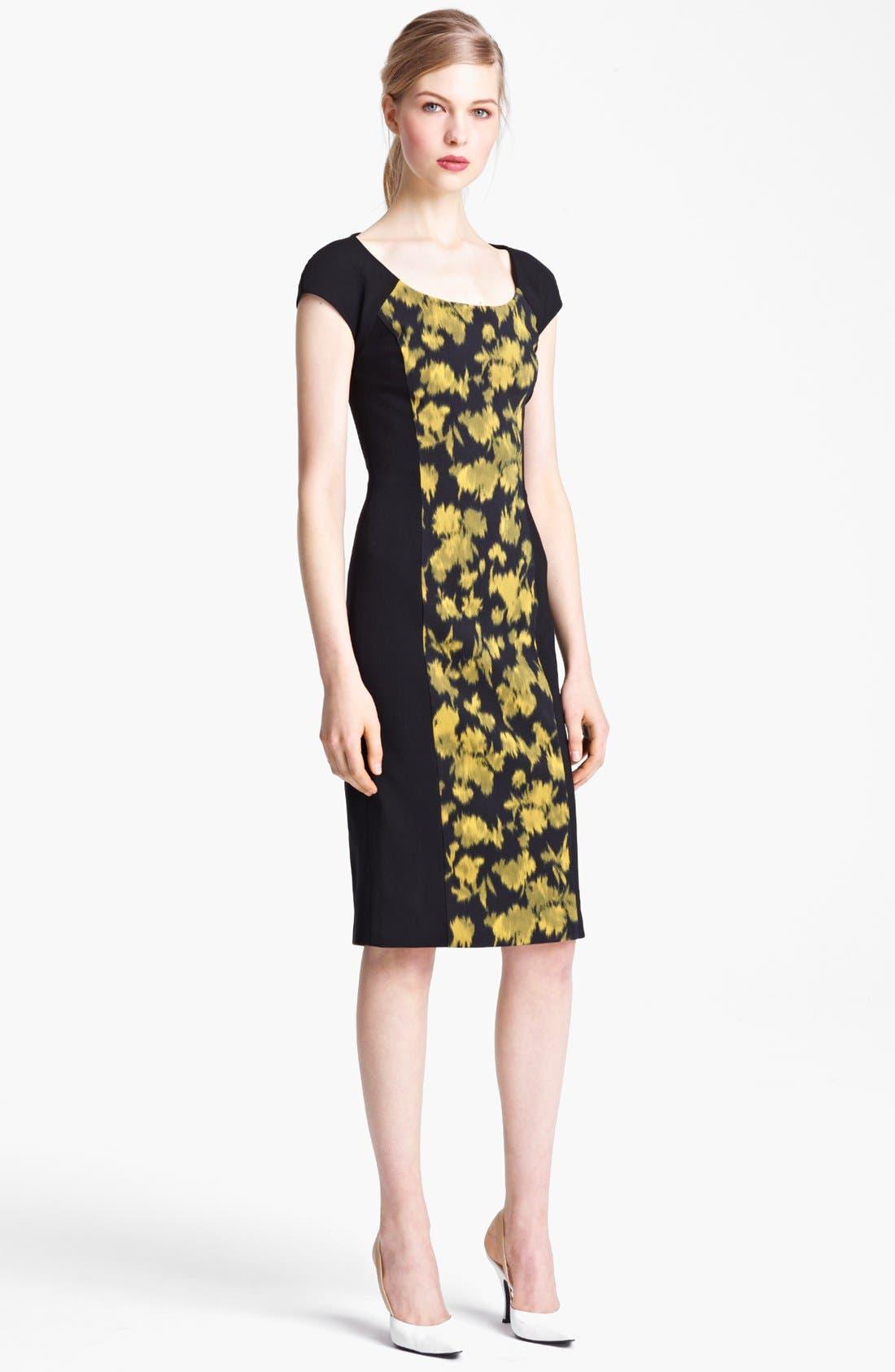 Alternate Image 1 Selected - Michael Kors Leaf Print Sheath Dress