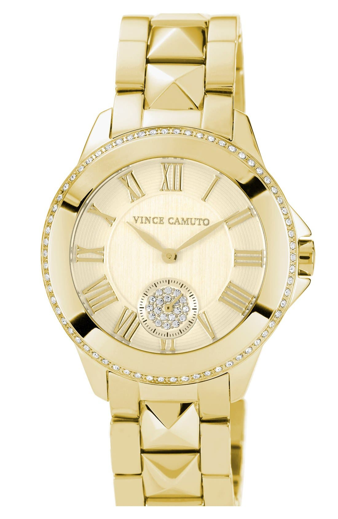 Alternate Image 1 Selected - Vince Camuto Pyramid Bracelet Watch, 38mm