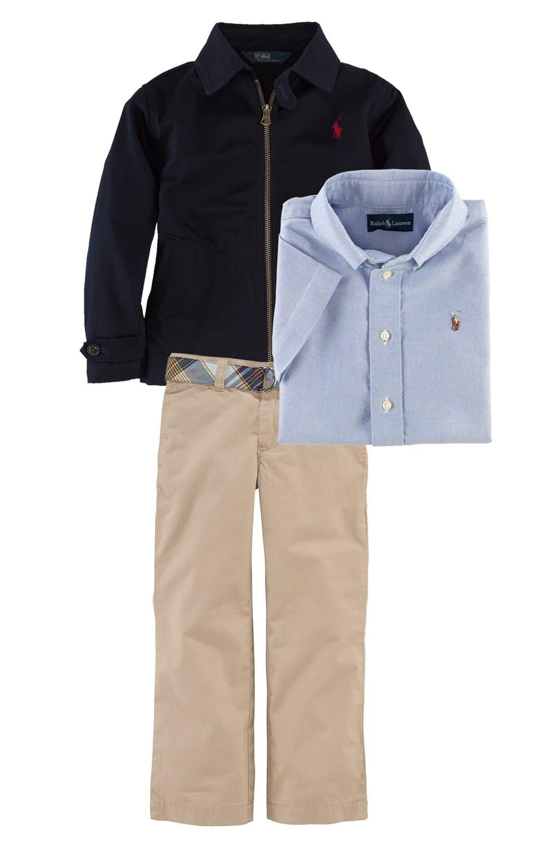 Alternate Image 2  - Ralph Lauren Woven Shirt (Toddler)