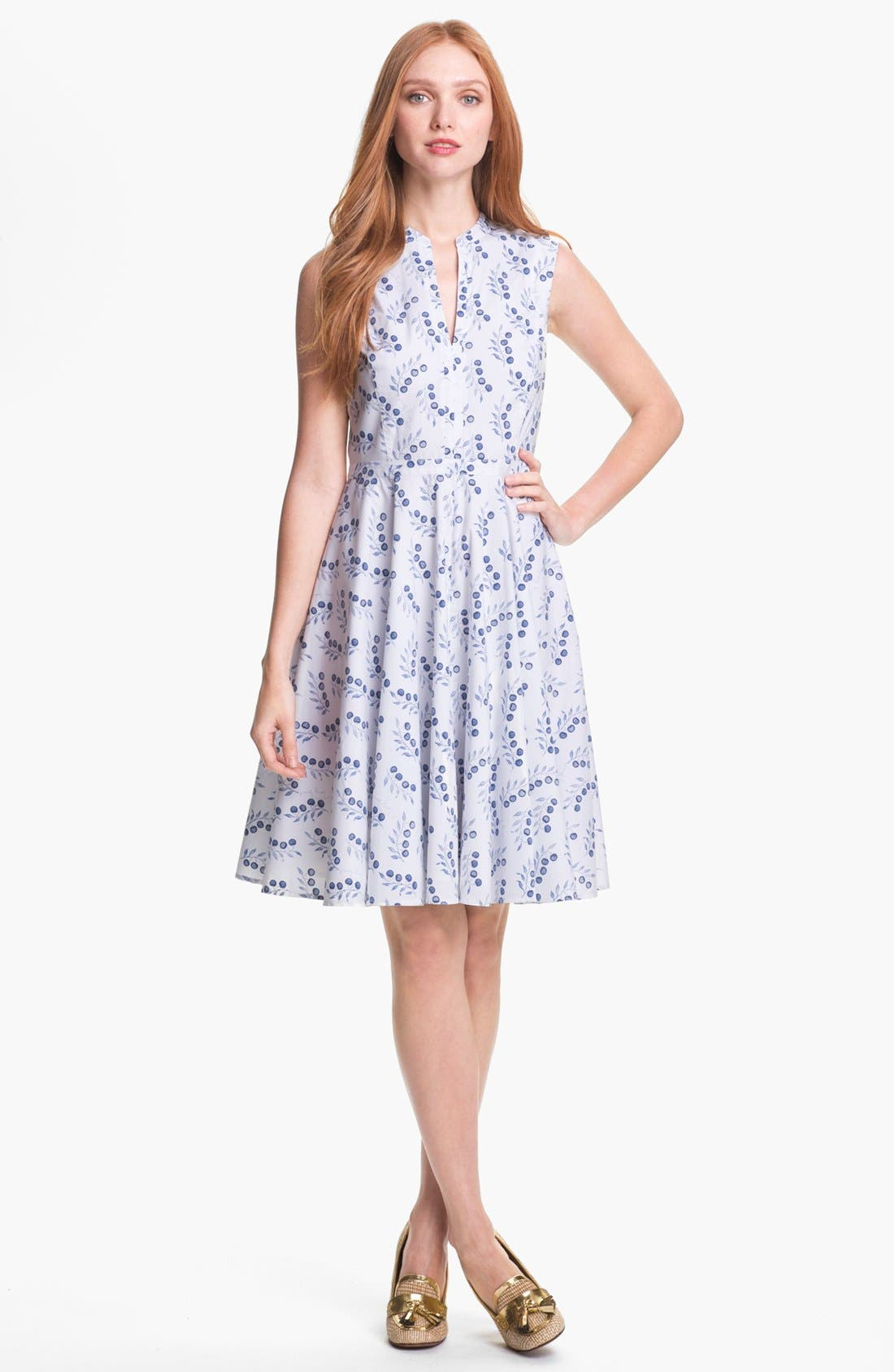 Alternate Image 1  - Tory Burch 'Talley' Cotton Blend Fit & Flare Dress