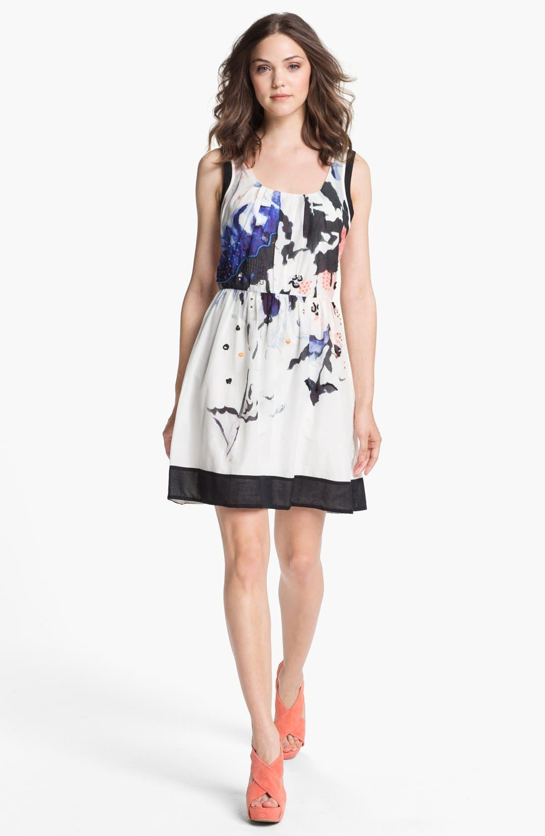 Alternate Image 1  - Matty M Sleeveless Flared Dress