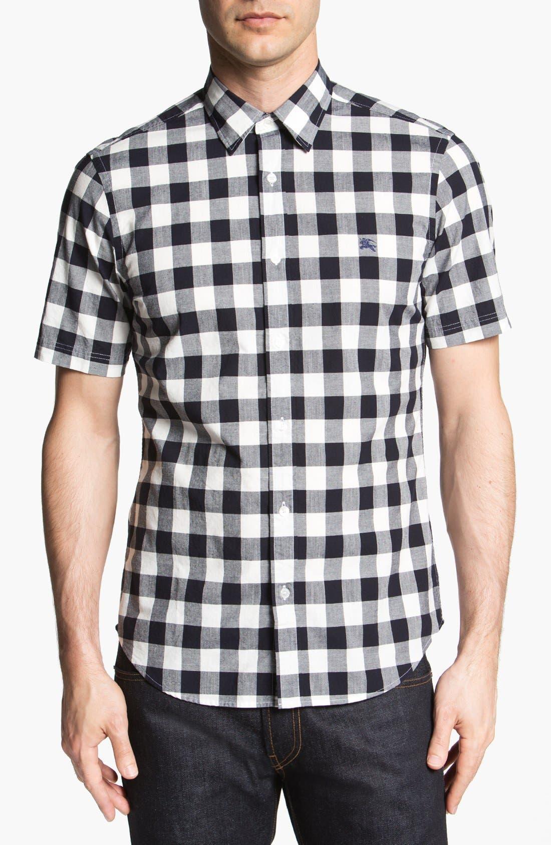 Alternate Image 1 Selected - Burberry Brit 'Henry' Short Sleeve Trim Fit Sport Shirt