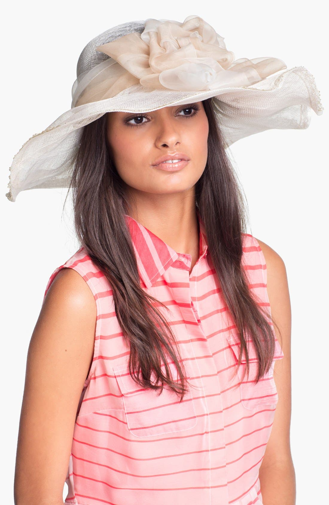 Alternate Image 1 Selected - Nordstrom Wide Brim Sinamay Hat