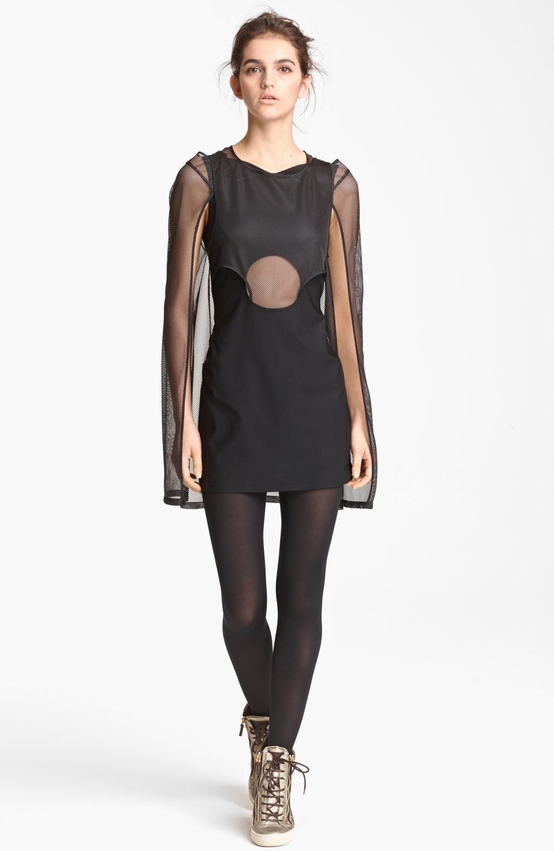 Alternate Image 1 Selected - Junya Watanabe Mesh Overlay Dress