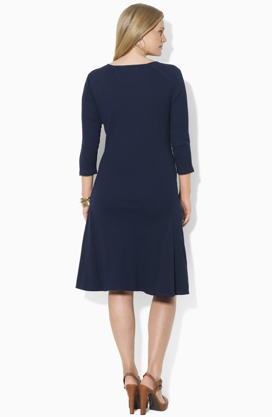 Alternate Image 3  - Lauren Ralph Lauren Henley A-Line Dress (Plus)