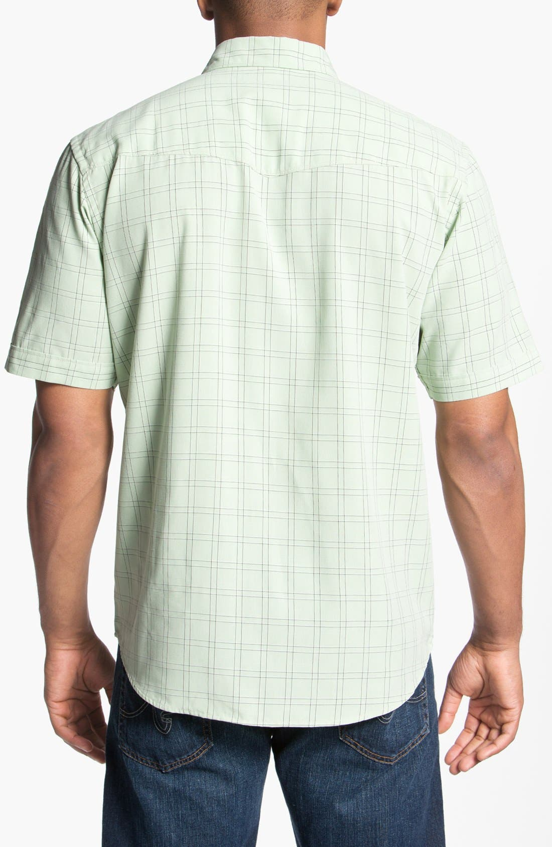 Alternate Image 2  - Quiksilver Waterman Collection 'Kendalls Right' Short Sleeve Sport Shirt