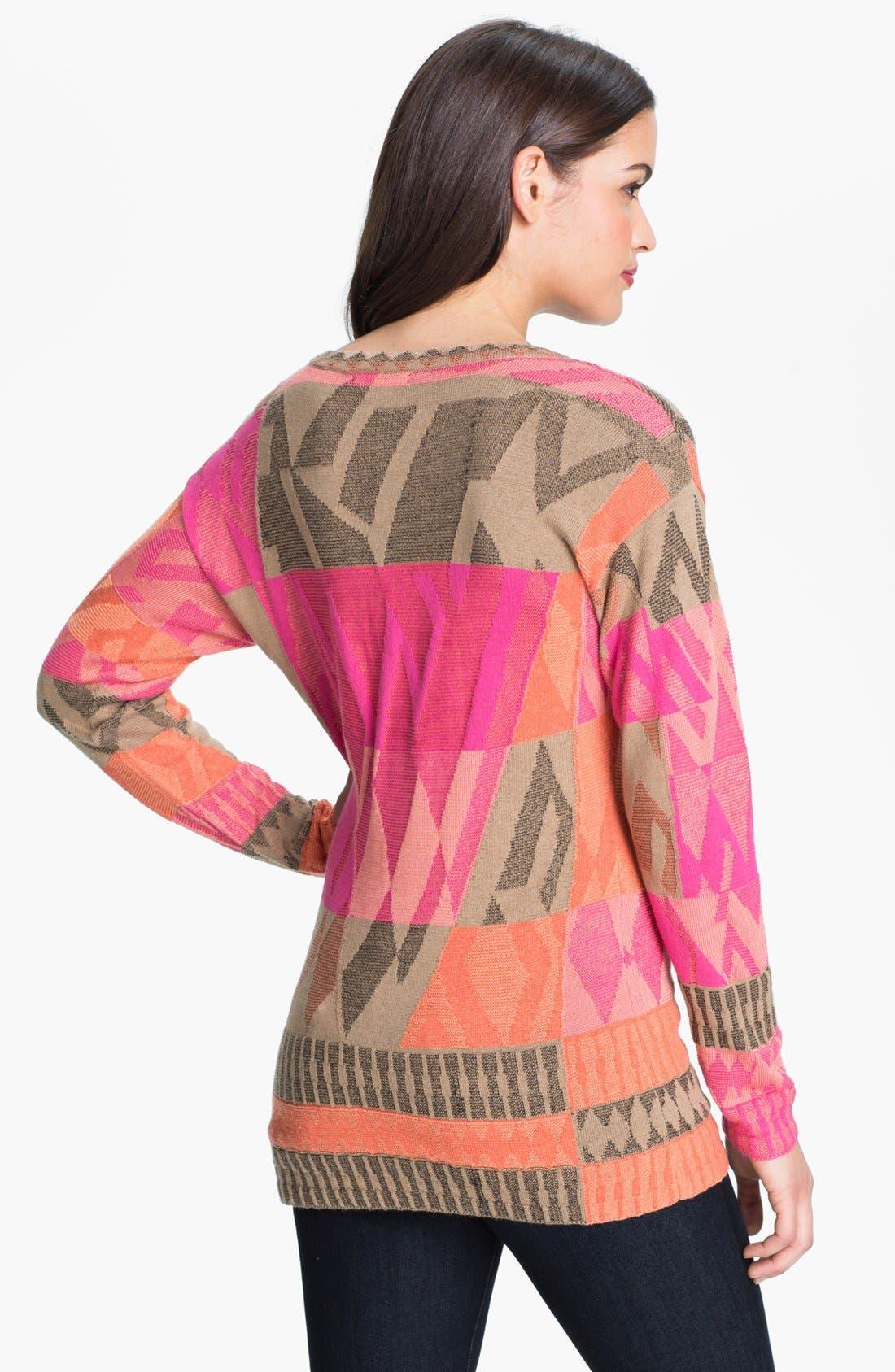 Alternate Image 2  - Nic + Zoe 'Coral Reef' Sweater (Petite)