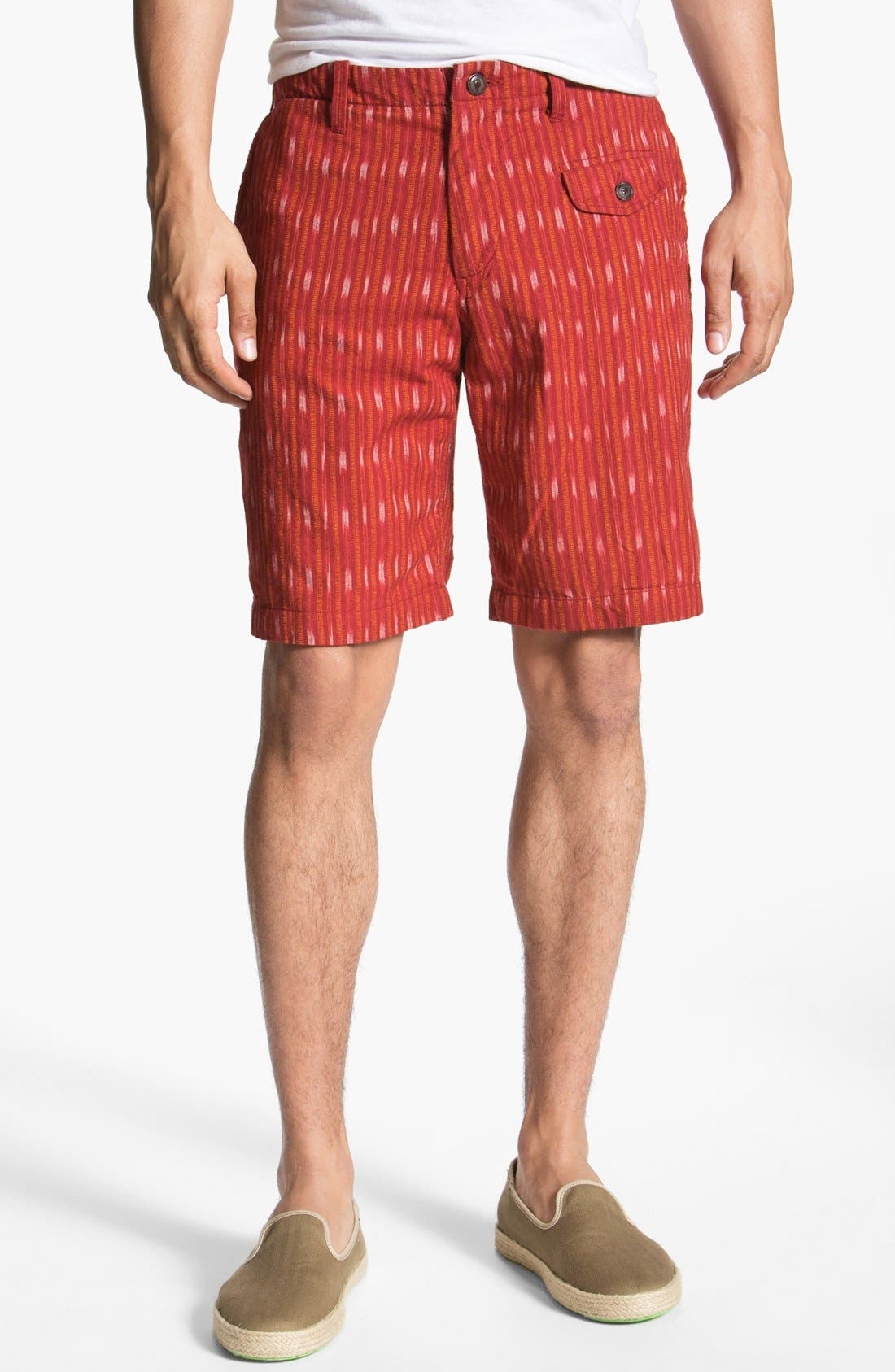 Alternate Image 1 Selected - Burkman Bros Stripe Woven Shorts