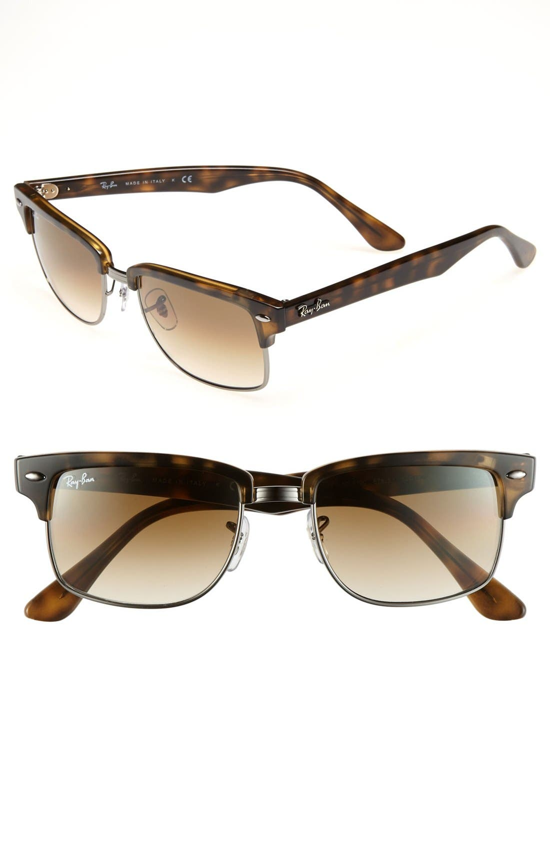 Main Image - Ray-Ban 'Clubmaster' 52mm Sunglasses