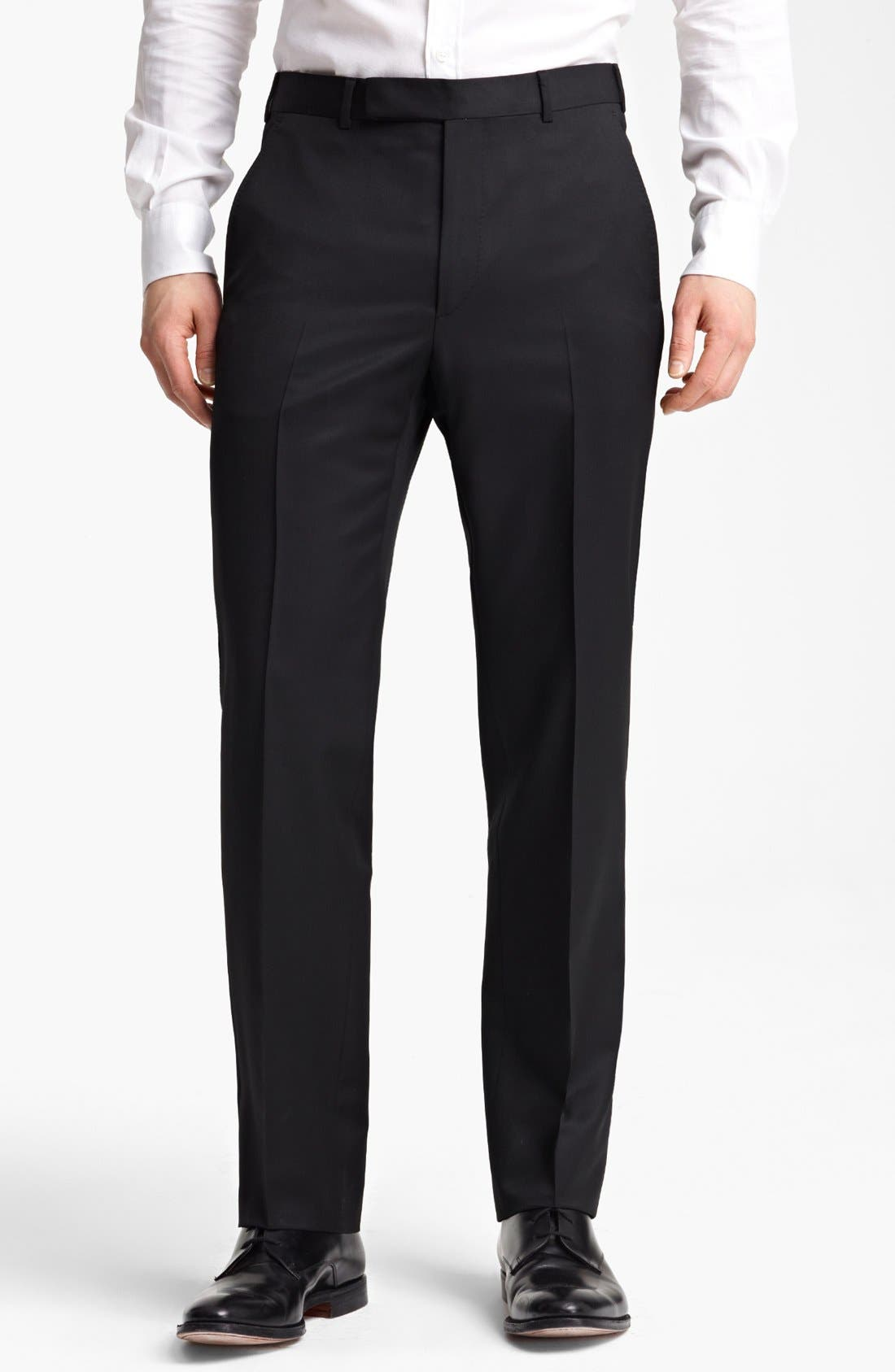 Alternate Image 1 Selected - Z Zegna Flat Front Trousers