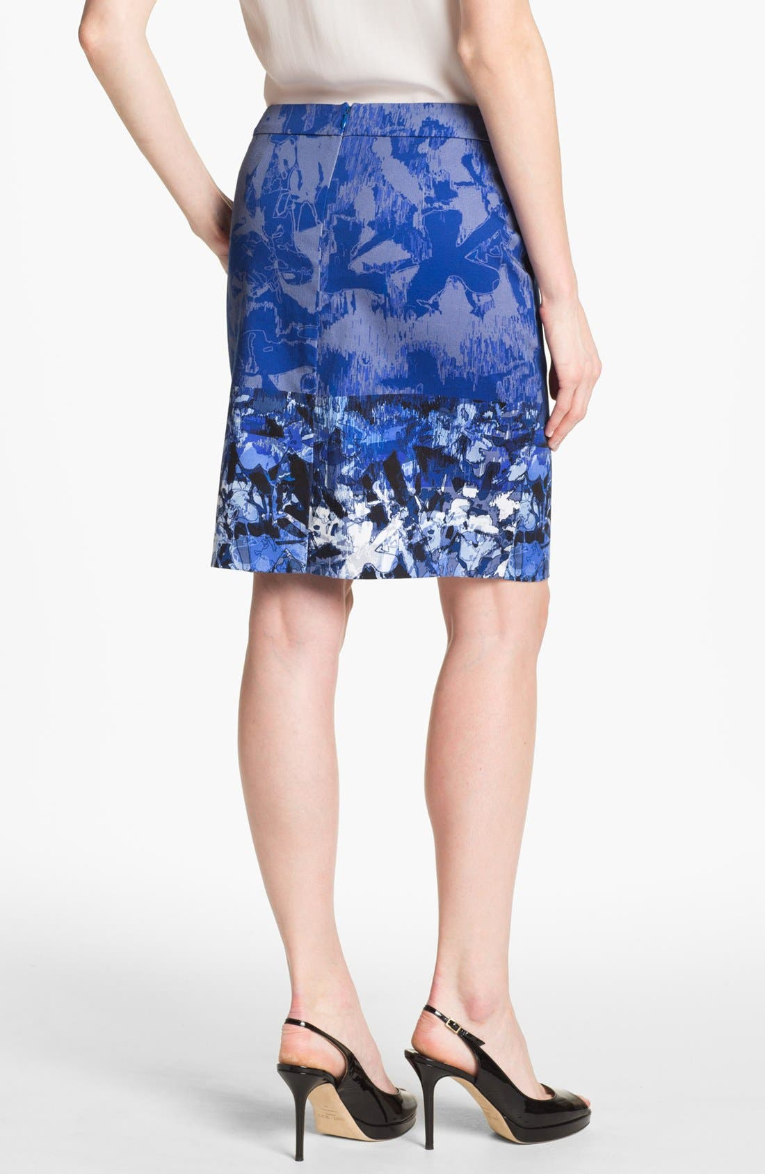 Alternate Image 3  - Adrianna Papell Placed Print Slim Skirt