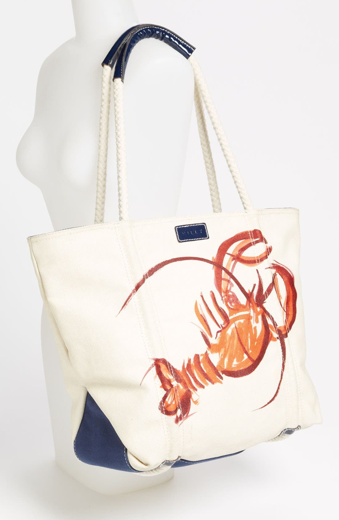 Alternate Image 2  - Milly Lobster Print Canvas Tote