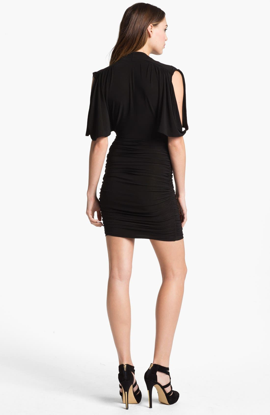 Alternate Image 2  - French Connection 'Jilly' Drape Sleeve Ruched Minidress