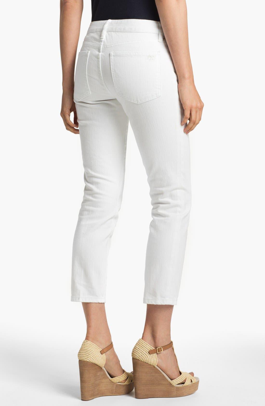 Alternate Image 2  - Tory Burch 'Alexa' Crop Skinny Stretch Jeans