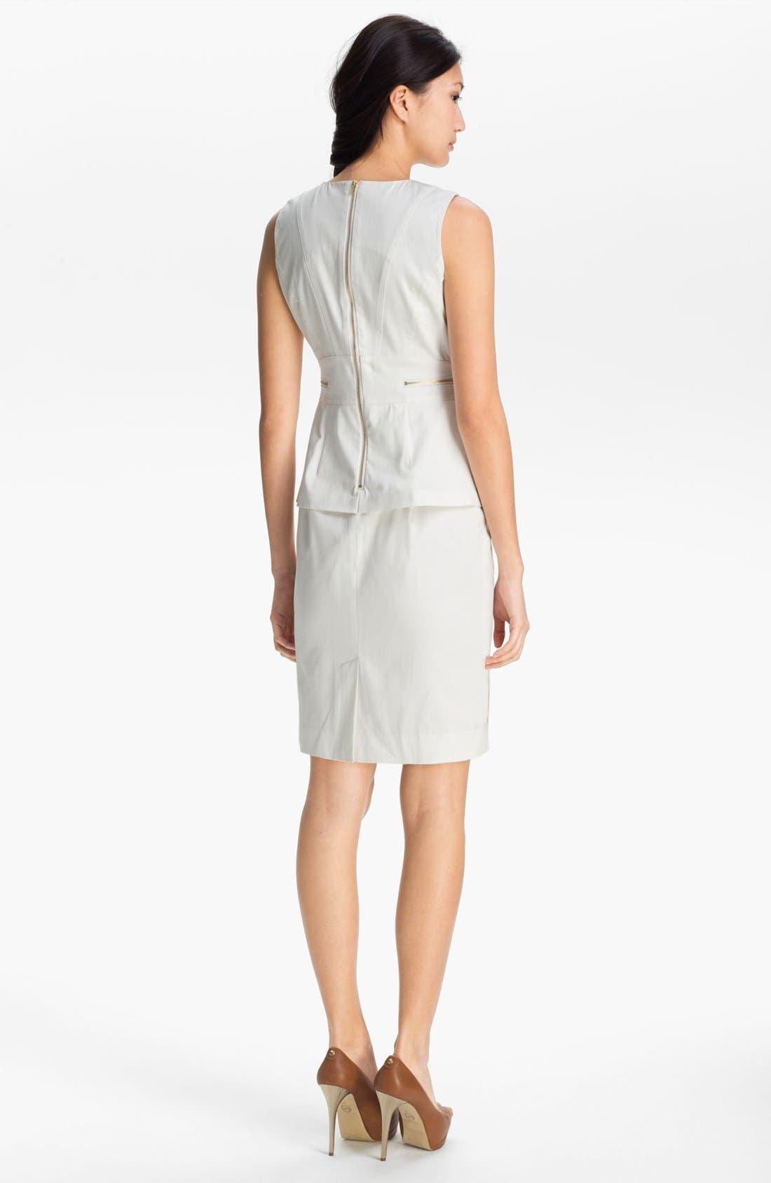 Alternate Image 2  - Calvin Klein Embellished Peplum Dress