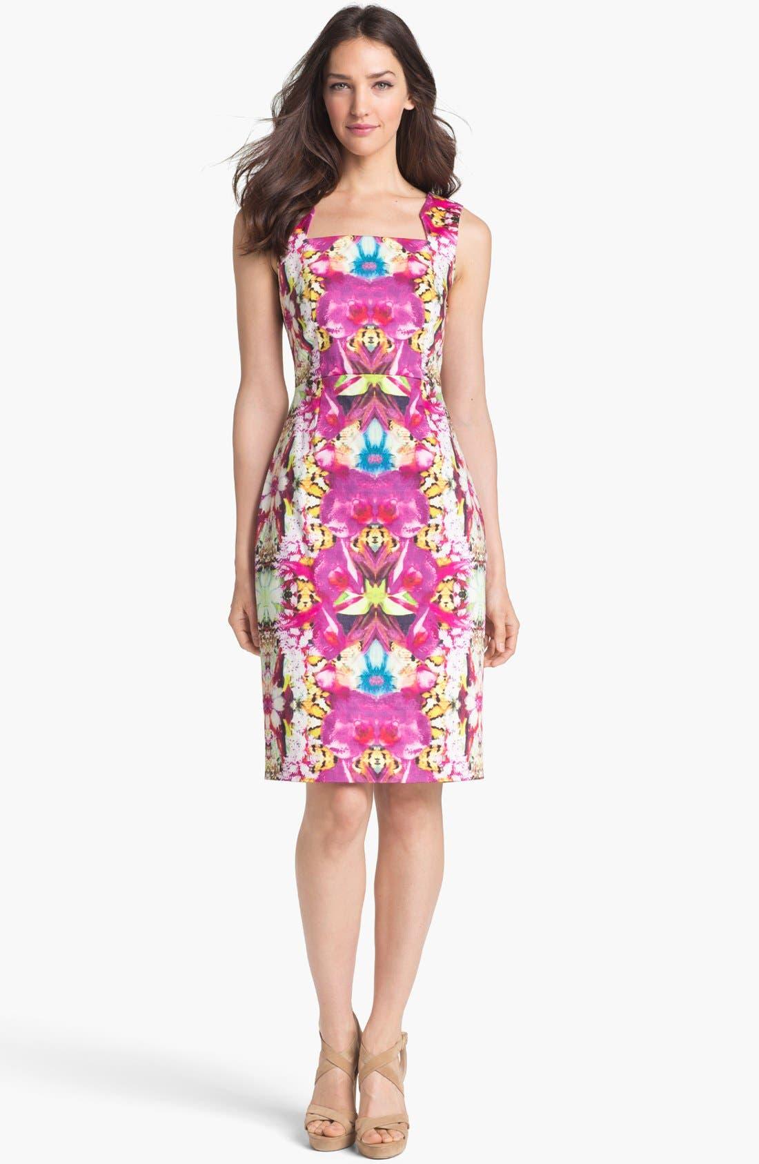 Alternate Image 1 Selected - Rachel Roy Stretch Cotton Sheath Dress