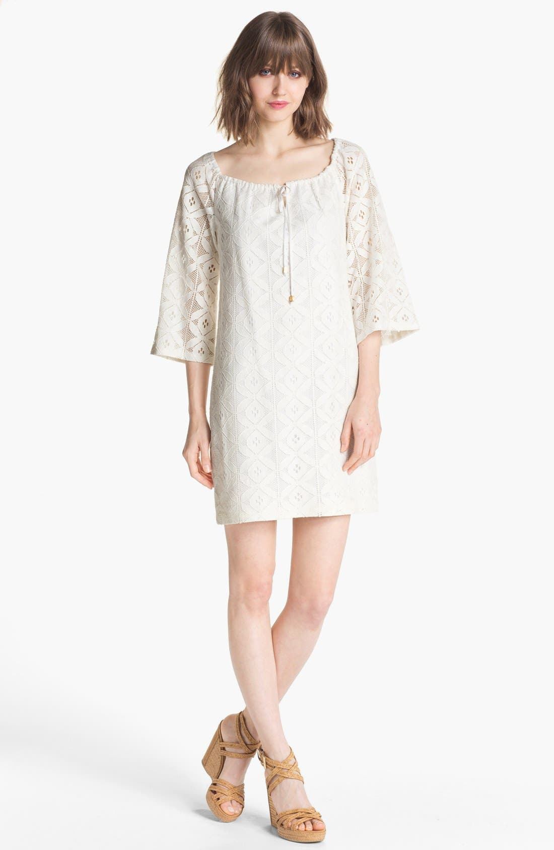 Alternate Image 1 Selected - Trina Turk 'Amplify' Bell Sleeve Lace Shift Dress