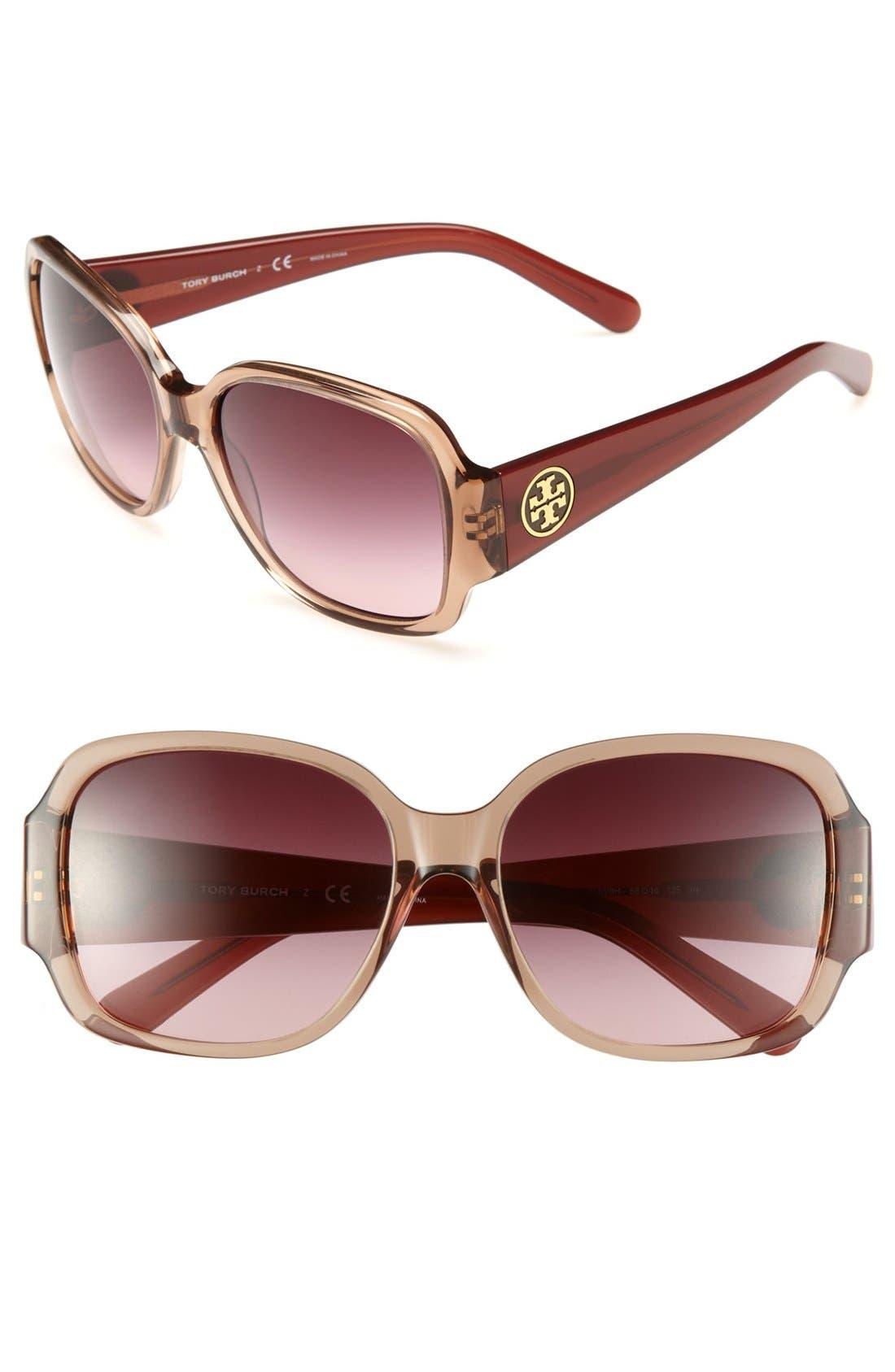 Alternate Image 1 Selected - Tory Burch 'Glam' 58mm Sunglasses