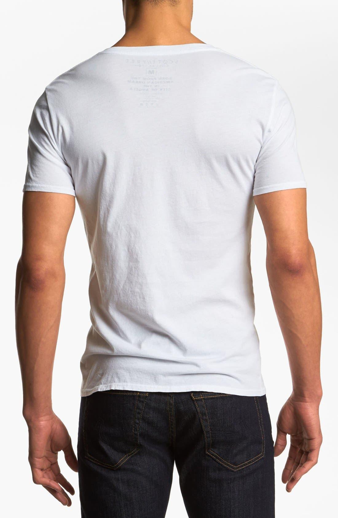 Alternate Image 2  - Scott Free 'Adventure' Graphic V-Neck T-Shirt