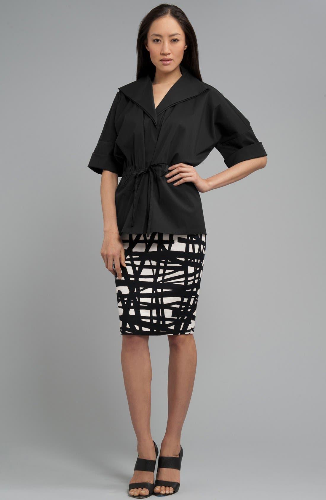Alternate Image 6  - Lafayette 148 New York 'Profound Stroke' Print Skirt