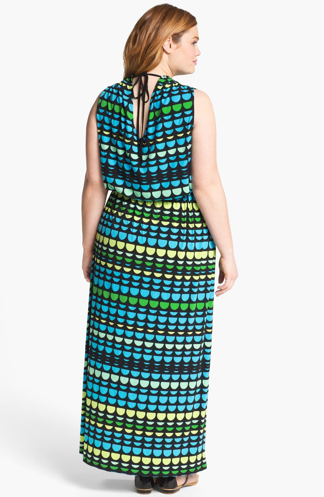 Alternate Image 2  - Vince Camuto Print Jersey Maxi Dress (Plus)
