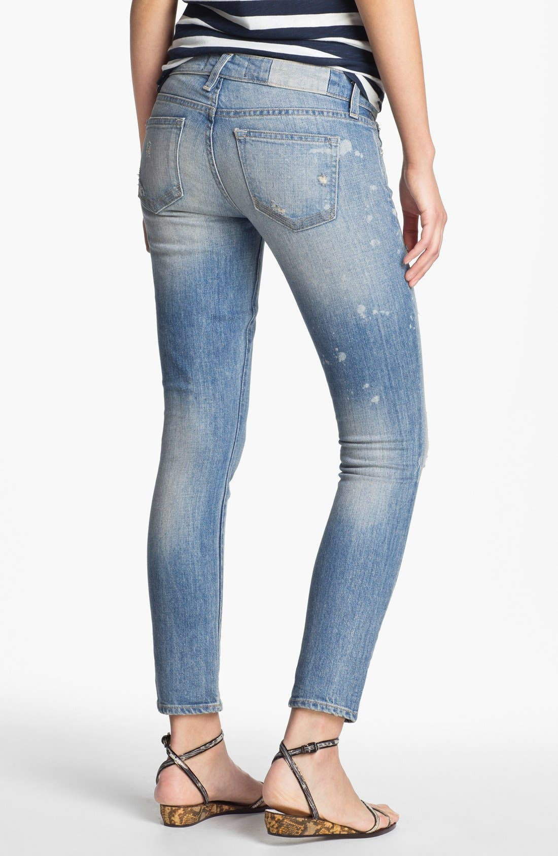 Alternate Image 2  - TEXTILE Elizabeth and James 'Ozzy' Rip & Repair Jeans
