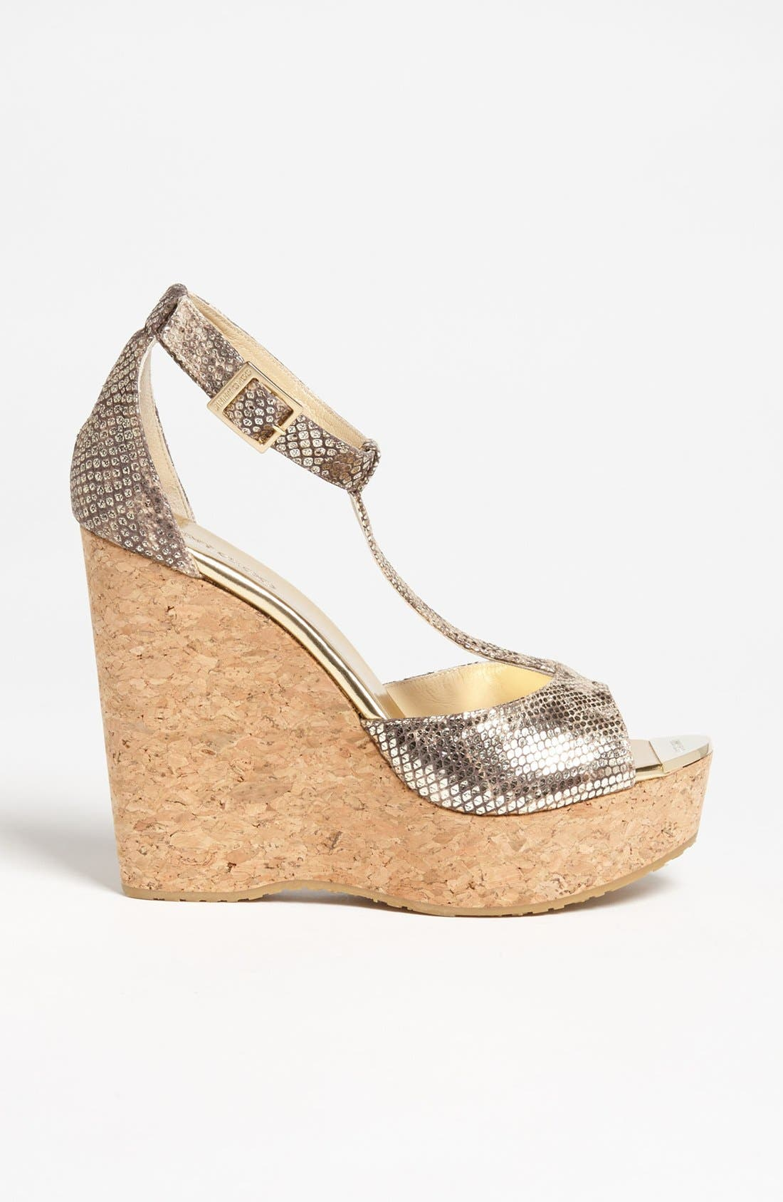 Alternate Image 4  - Jimmy Choo 'Pela' Cork Wedge Sandal