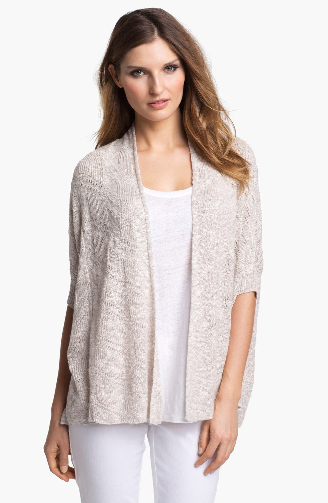 Main Image - Eileen Fisher Elbow Sleeve Boxy Cardigan