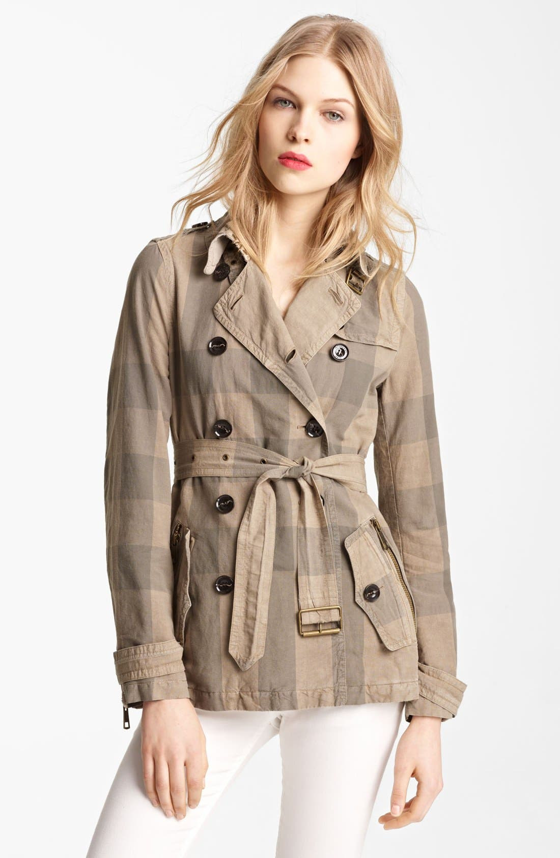 Alternate Image 1 Selected - Burberry Brit 'Burnstead' Short Trench (Online Only)
