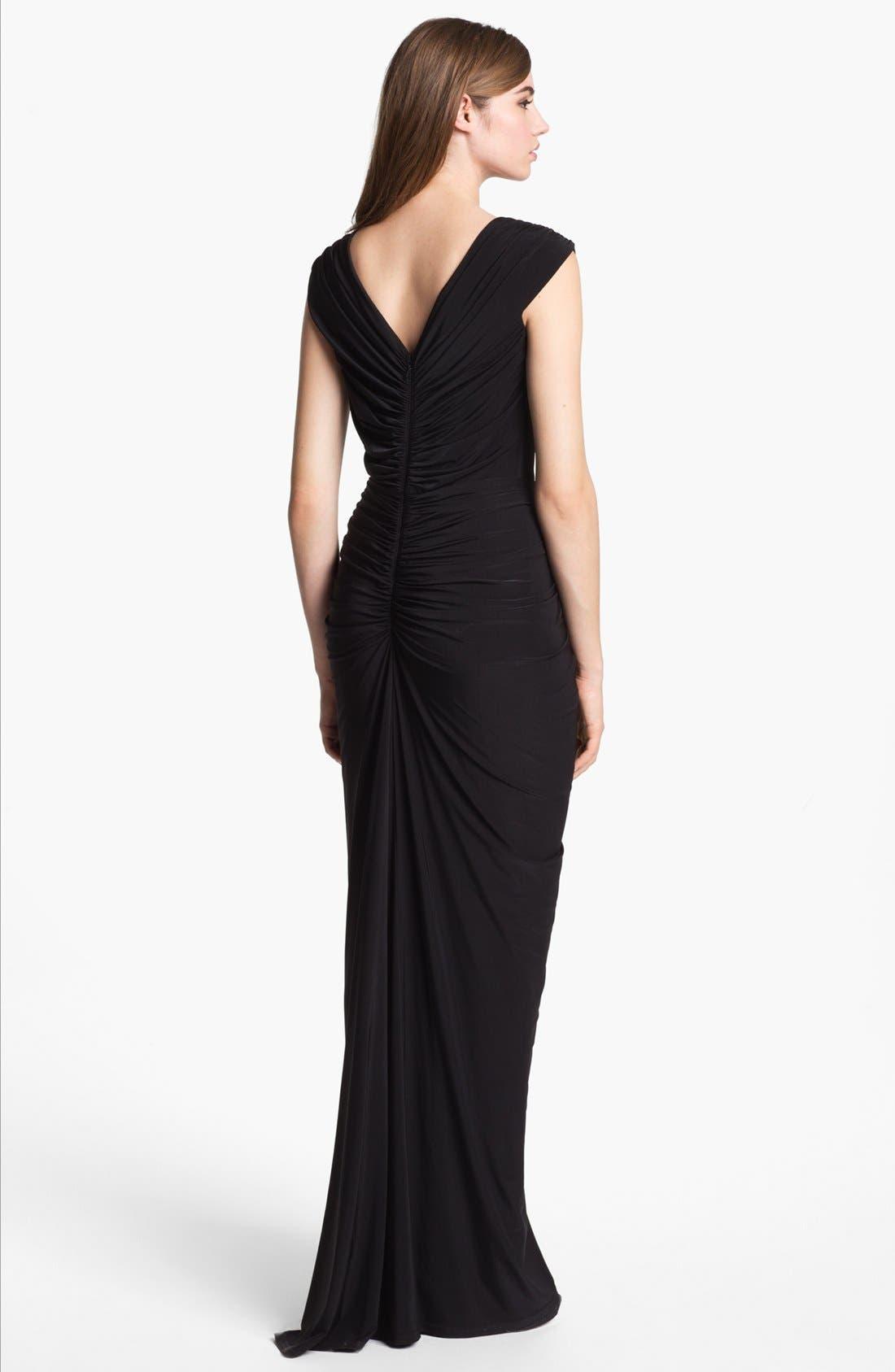 Alternate Image 2  - Tadashi Shoji Embellished Ruched Gown