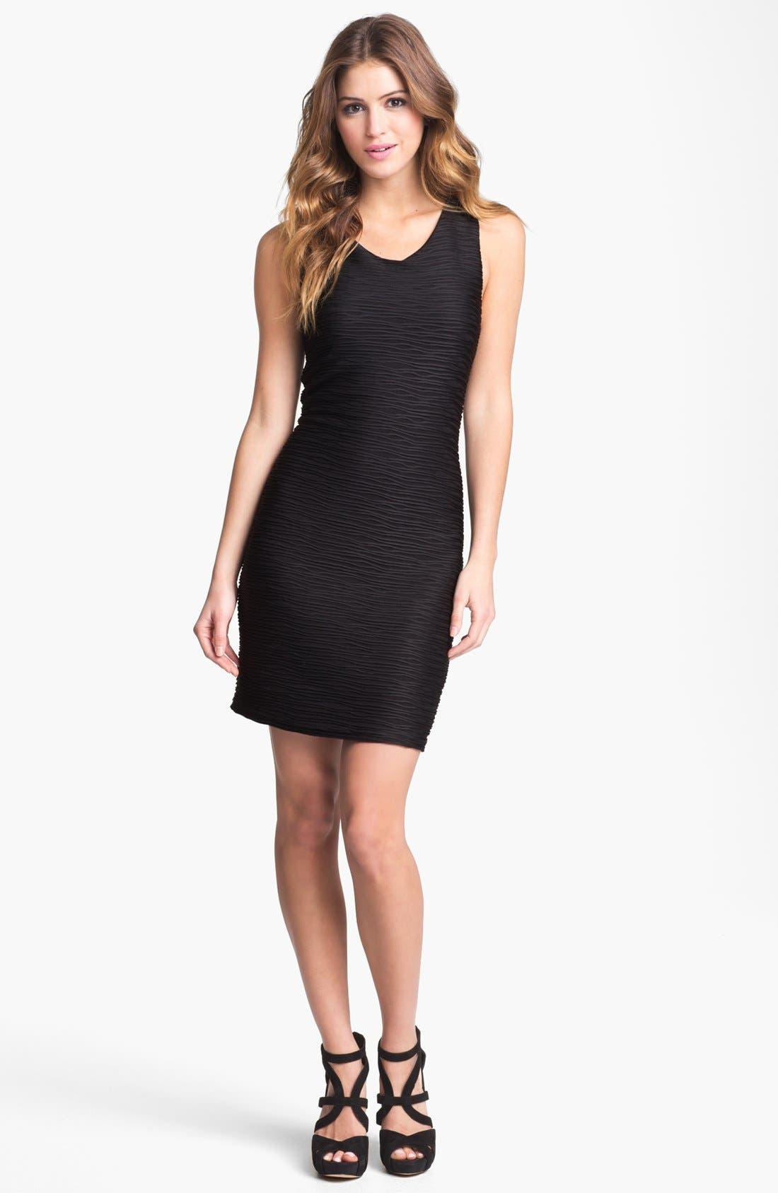 Main Image - Abi Ferrin 'Lindsey' Textured Racerback Dress