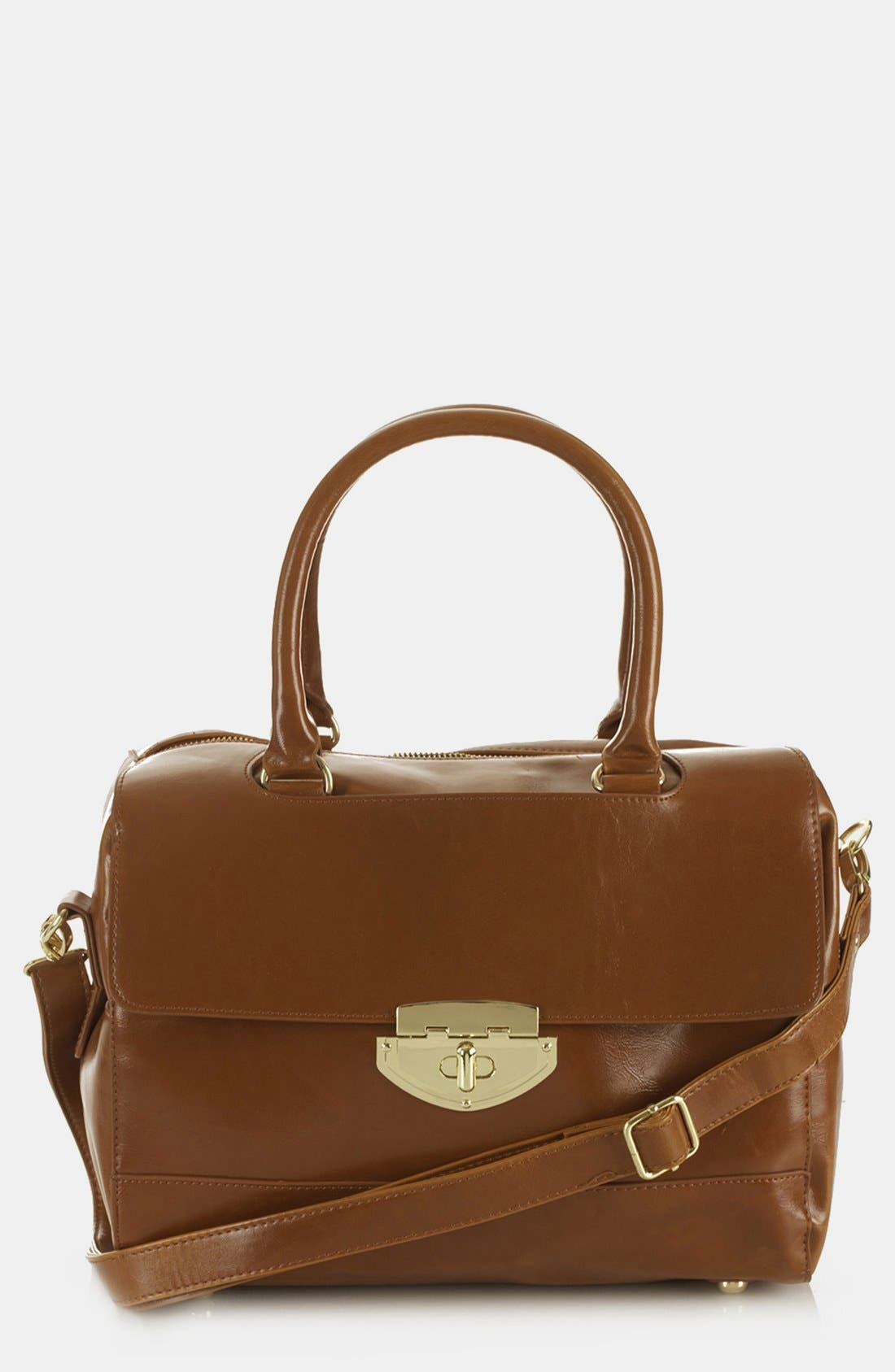 Alternate Image 1 Selected - Topshop 'Clean Bowling Bag' Satchel