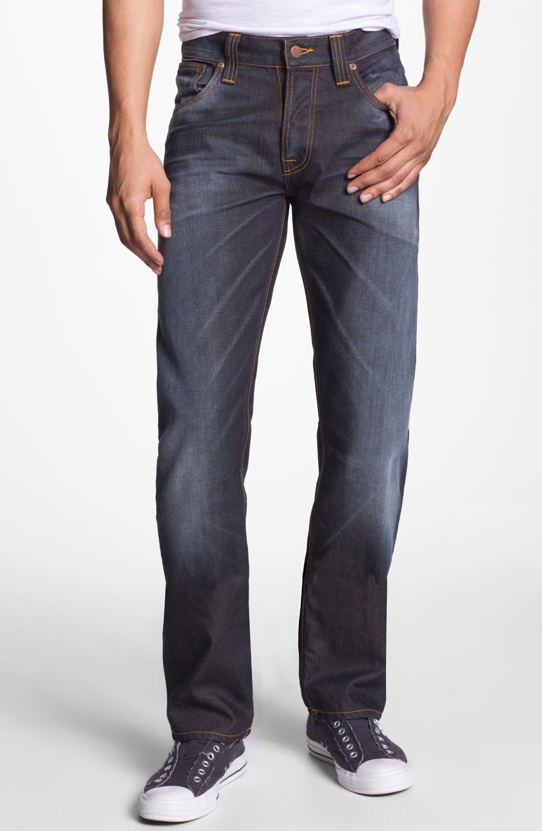 Alternate Image 2  - Nudie Jeans 'Average Joe' Straight Leg Jeans (Organic Steve Replica)