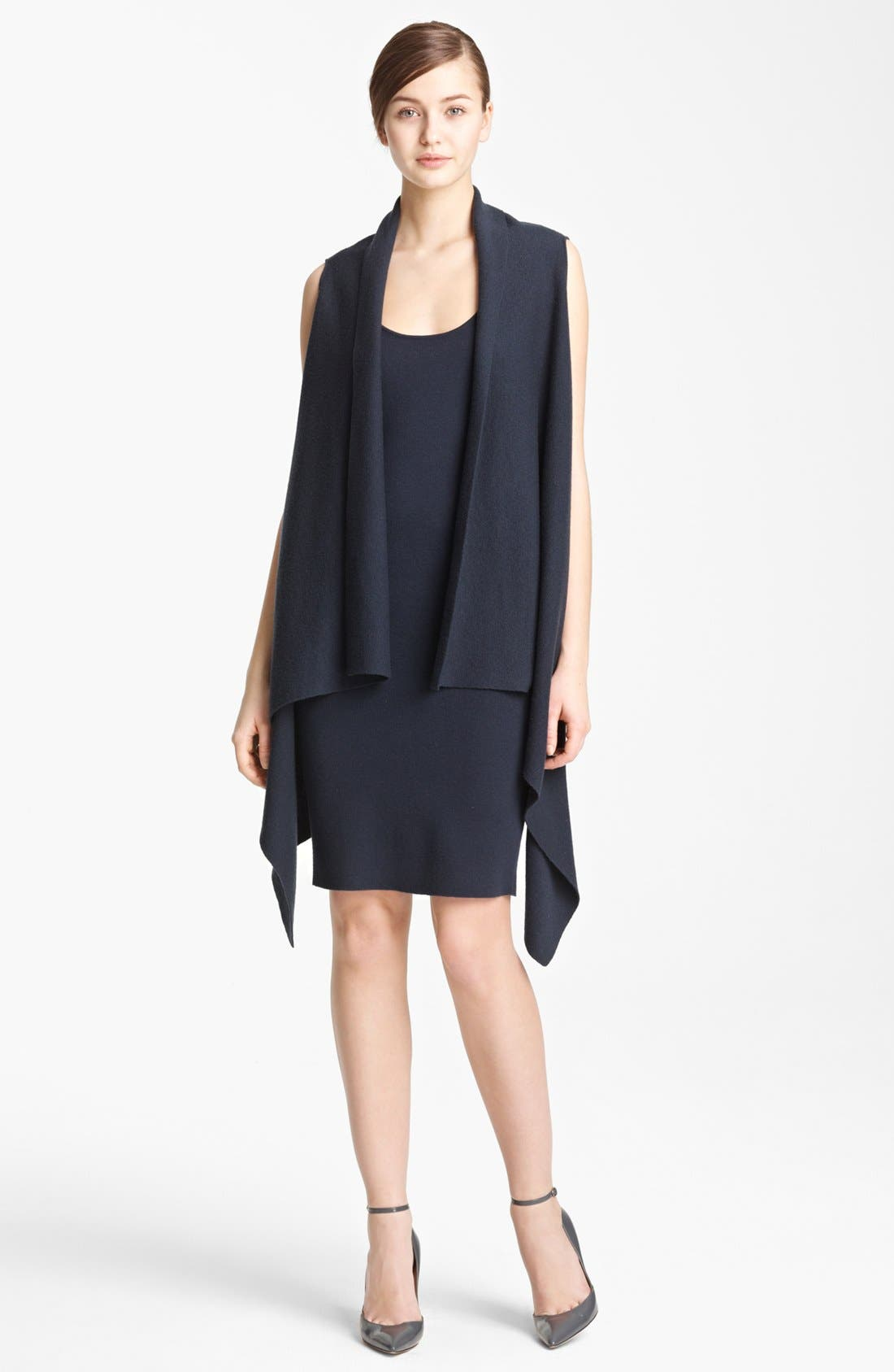 Main Image - Donna Karan Collection Sleeveless Featherweight Cashmere Cozy