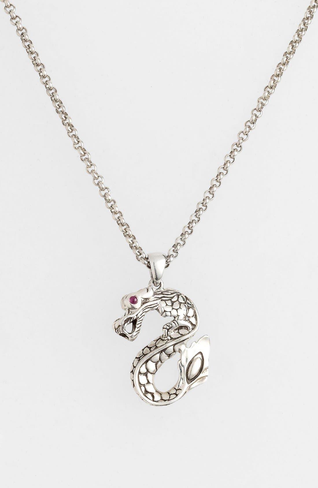 Alternate Image 2  - John Hardy 'Naga Batu' Dragon Pendant Necklace