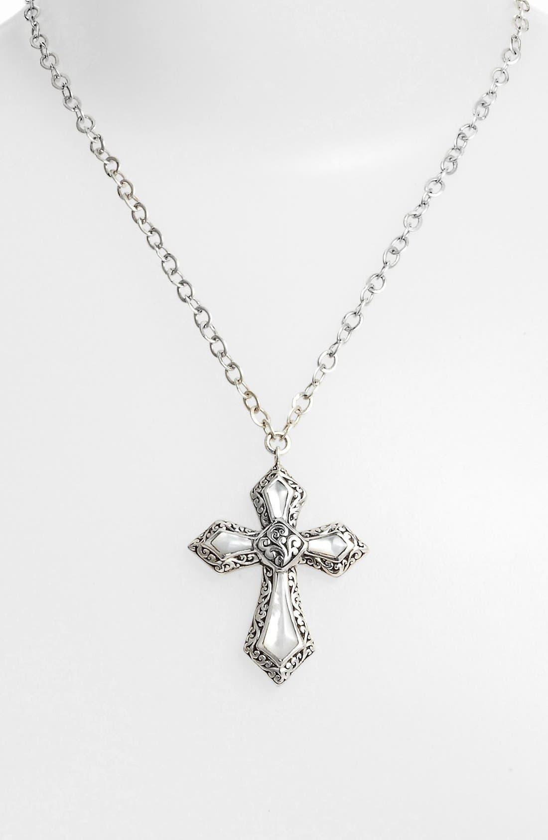 Alternate Image 2  - Lois Hill Cross Pendant Necklace