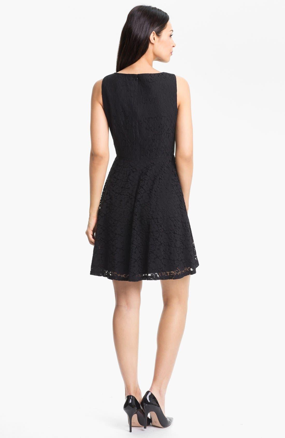 Alternate Image 2  - Donna Morgan Sleeveless Lace Fit & Flare Dress