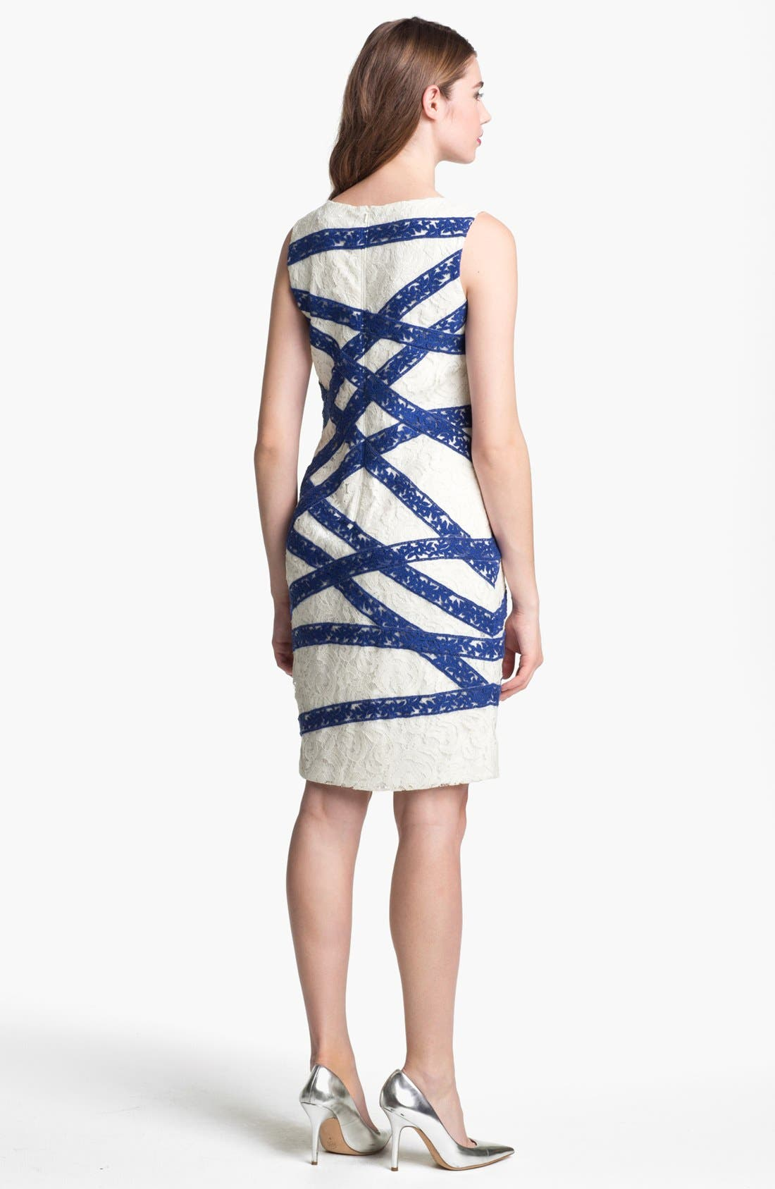 Alternate Image 2  - Tadashi Shoji Sleeveless Lace Sheath Dress