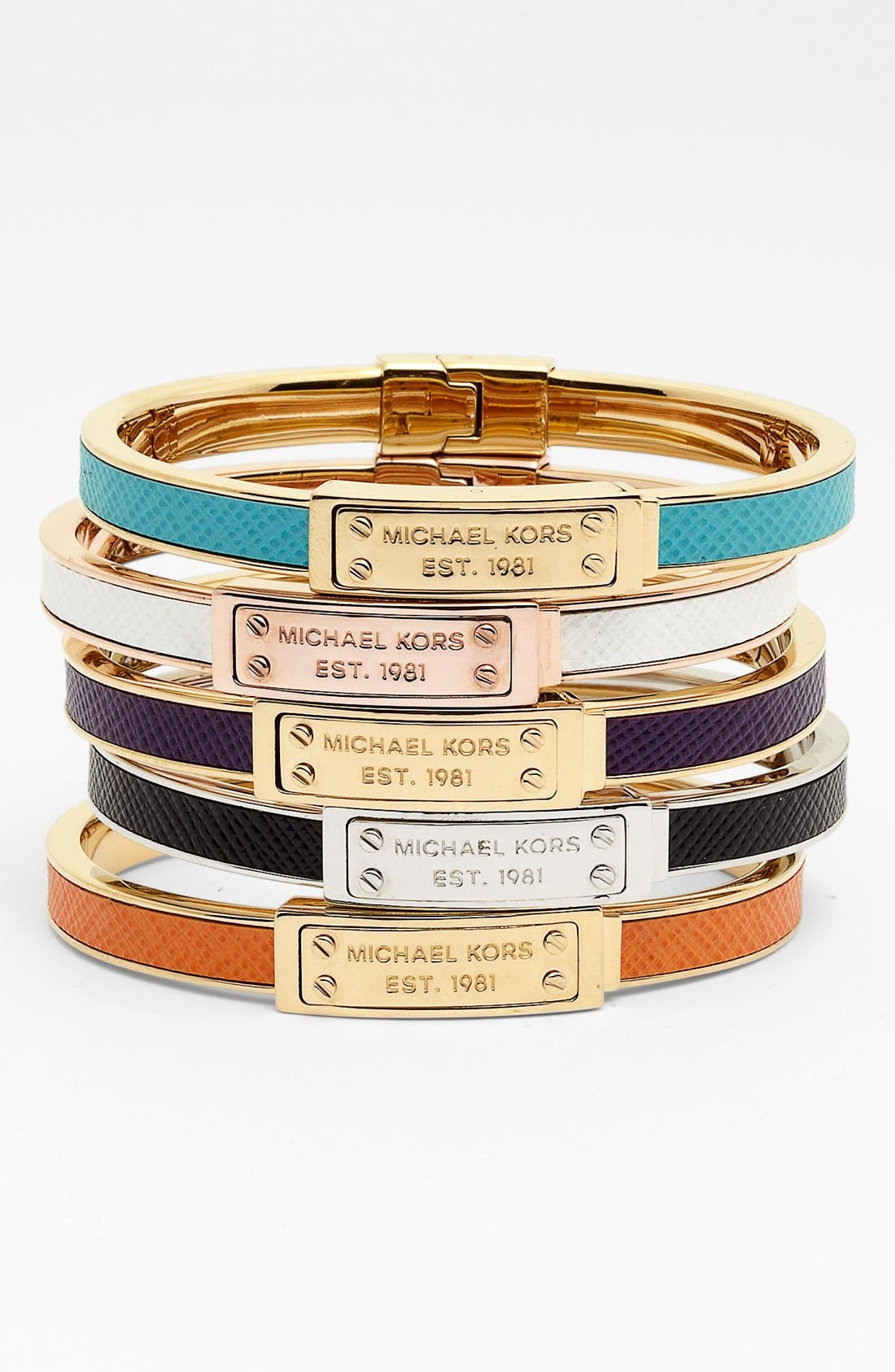 Alternate Image 1 Selected - Michael Kors Hinged Bangle (Nordstrom Exclusive)