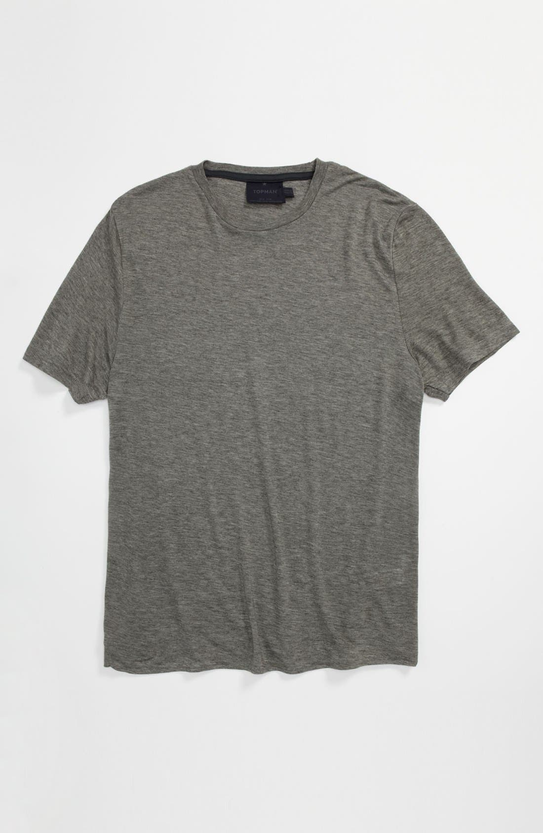Main Image - Topman 'Lux Collection' Marled Wool Blend T-Shirt