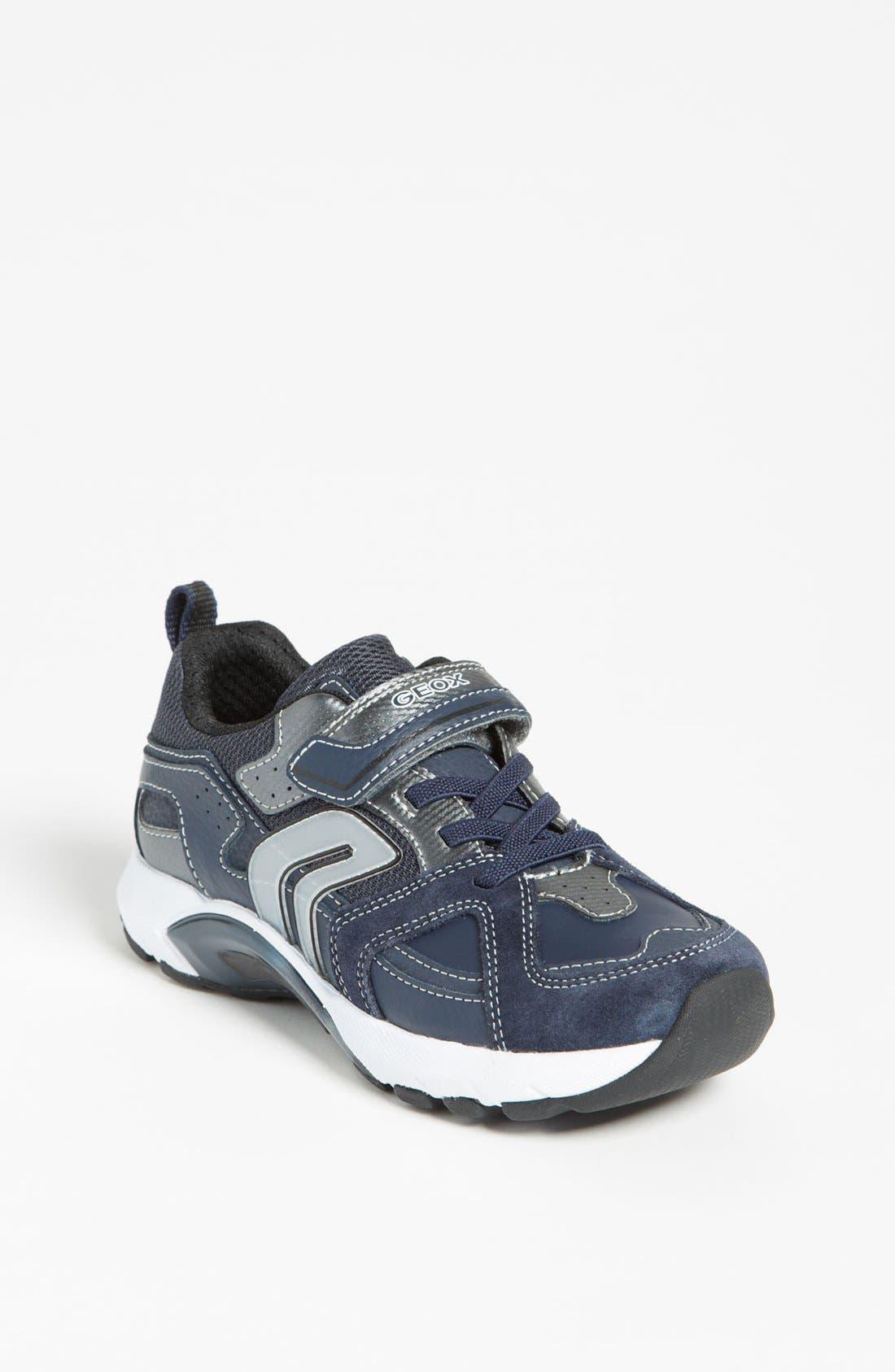 Alternate Image 1 Selected - Geox 'Stark 8' Sneaker (Toddler, Little Kid & Big Kid)