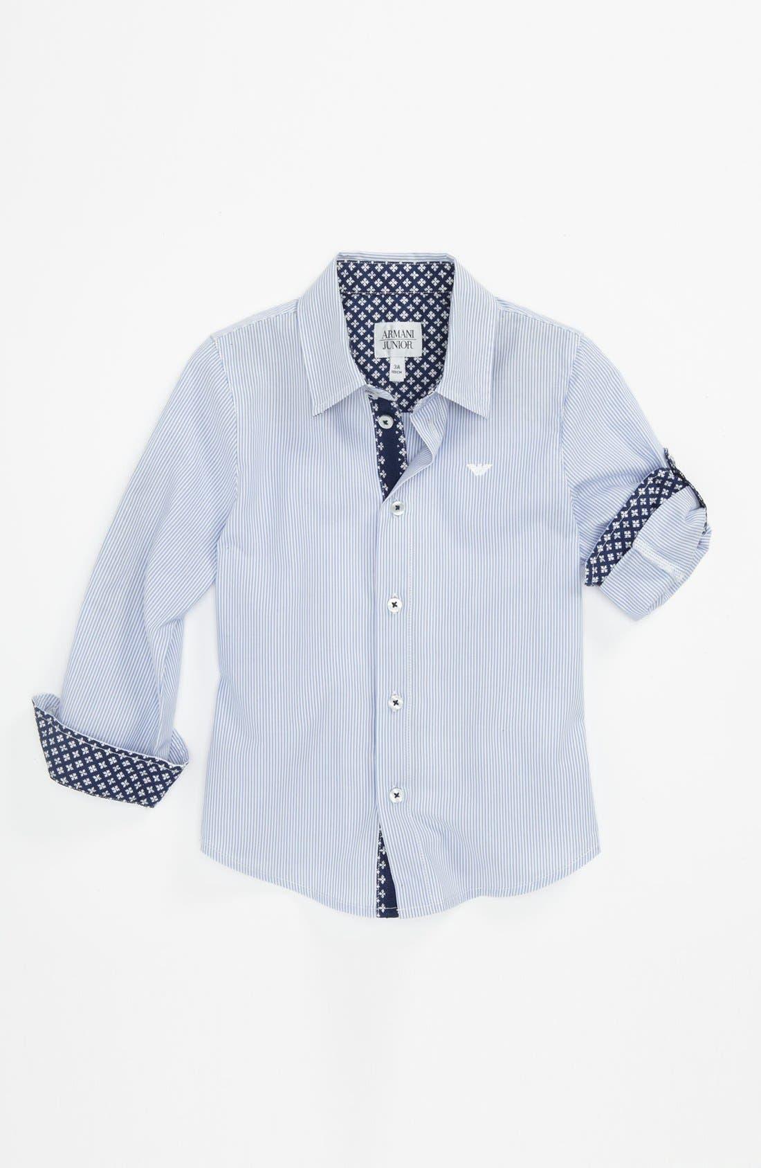 Main Image - Armani Junior Stripe Shirt (Little Boys)