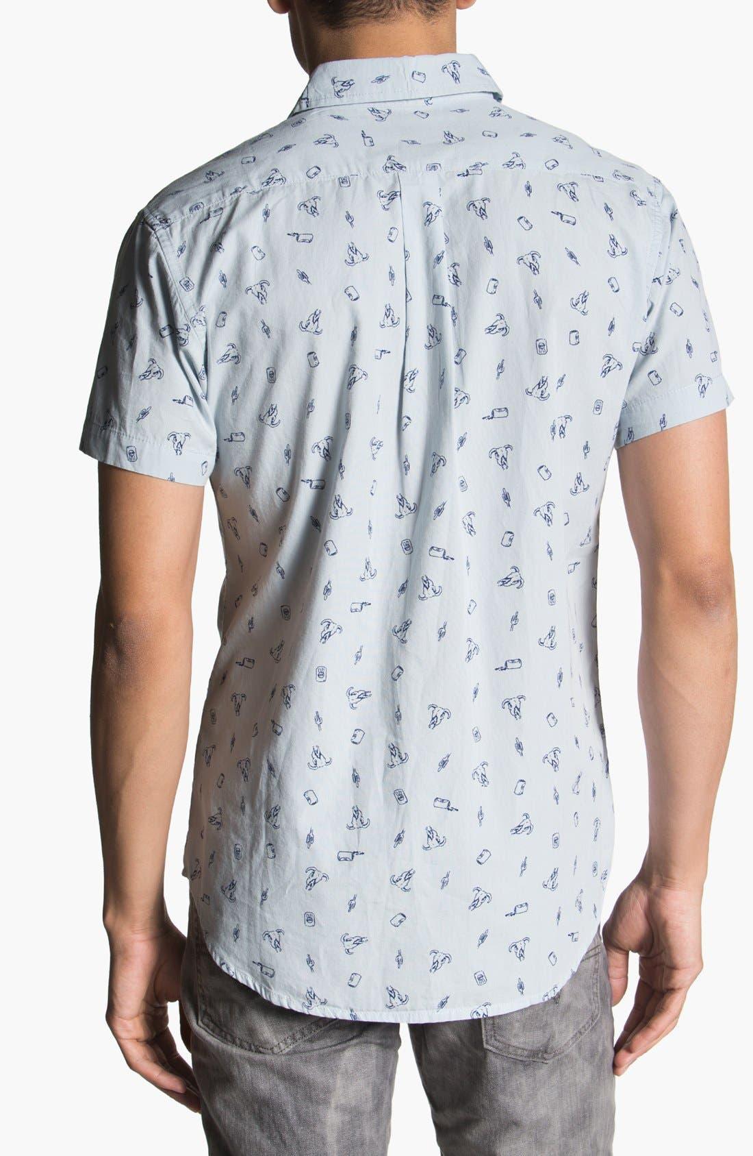 Alternate Image 3  - Obey 'Crossroads' Print Woven Shirt
