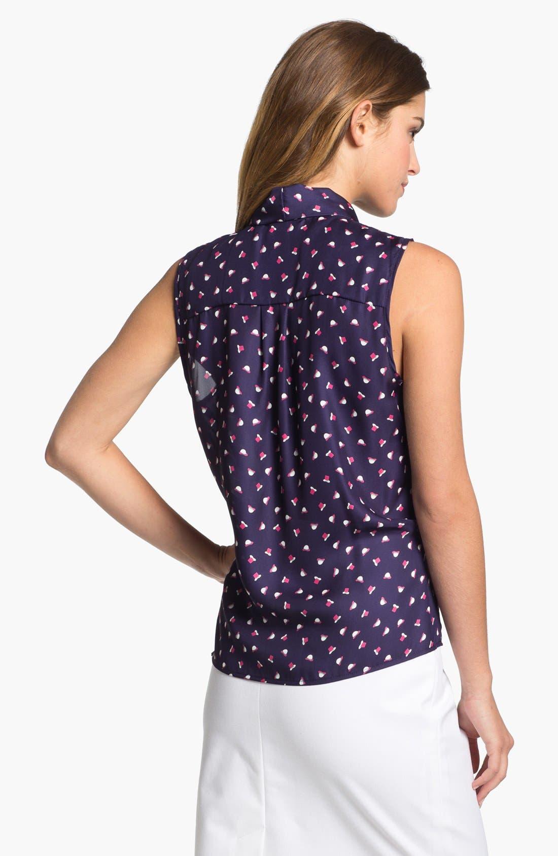 Alternate Image 3  - Olivia Moon Tie Neck Sleeveless Blouse